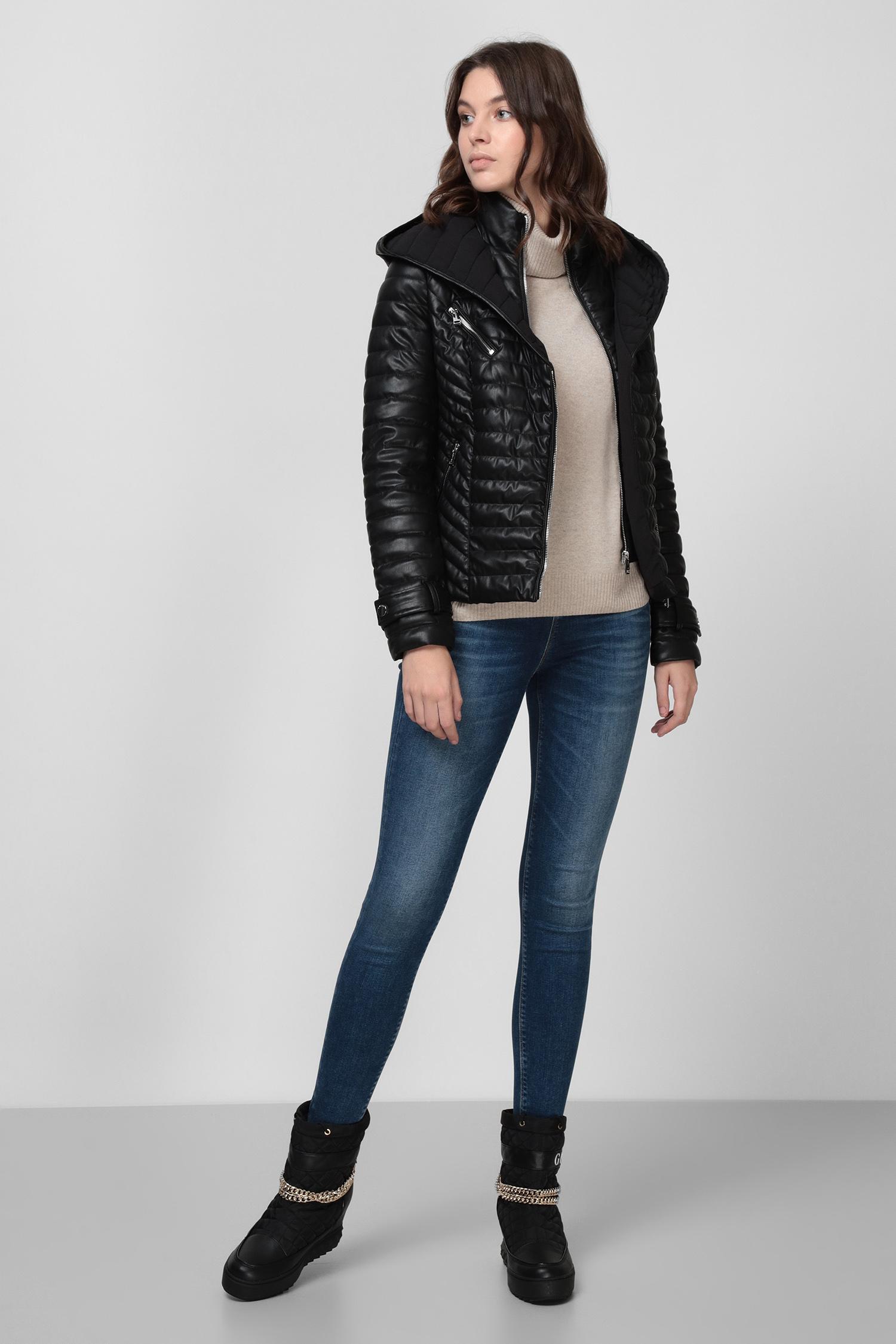 Женская черная куртка Guess W0BL89.WC550;JBLK