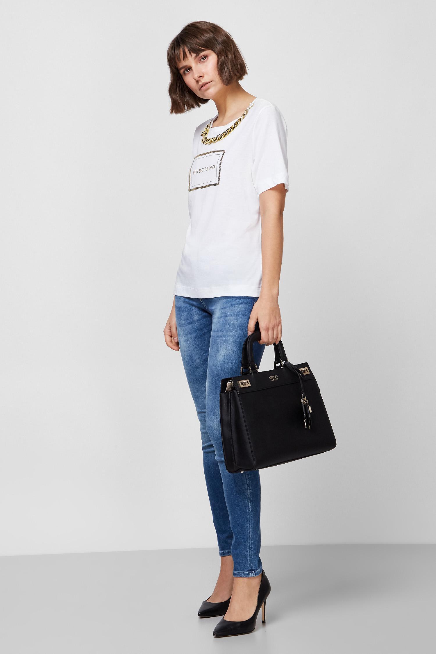 Женская белая футболка с принтом GUESS by Marciano Guess 0BG623.6007A;TWHT