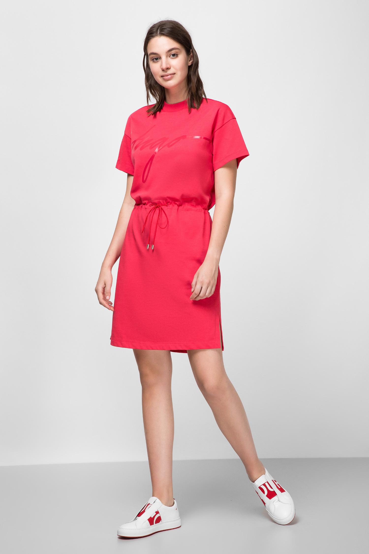 Женское красное платье HUGO 50430003;623