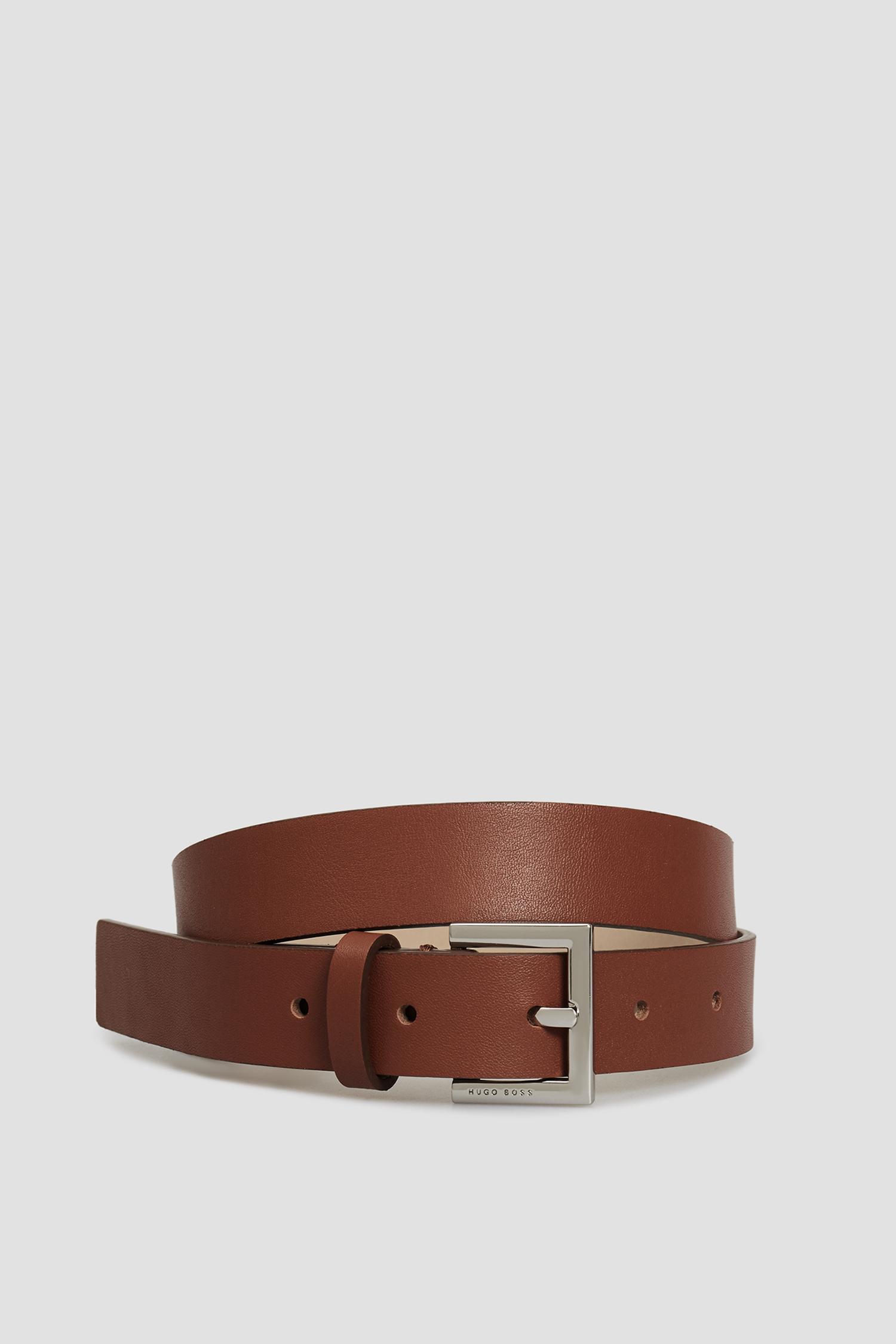 Женский коричневый кожаный ремень BOSS 50413182;224
