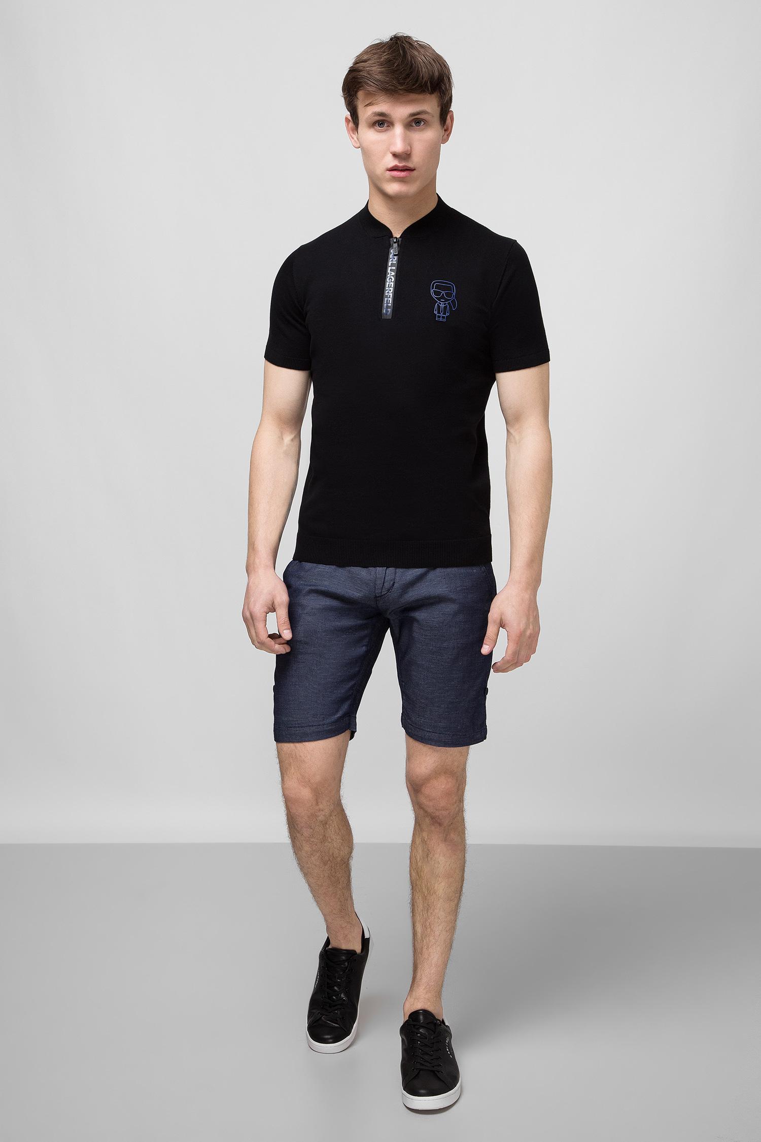 Мужское черное поло Karl Lagerfeld 501398.655021;990