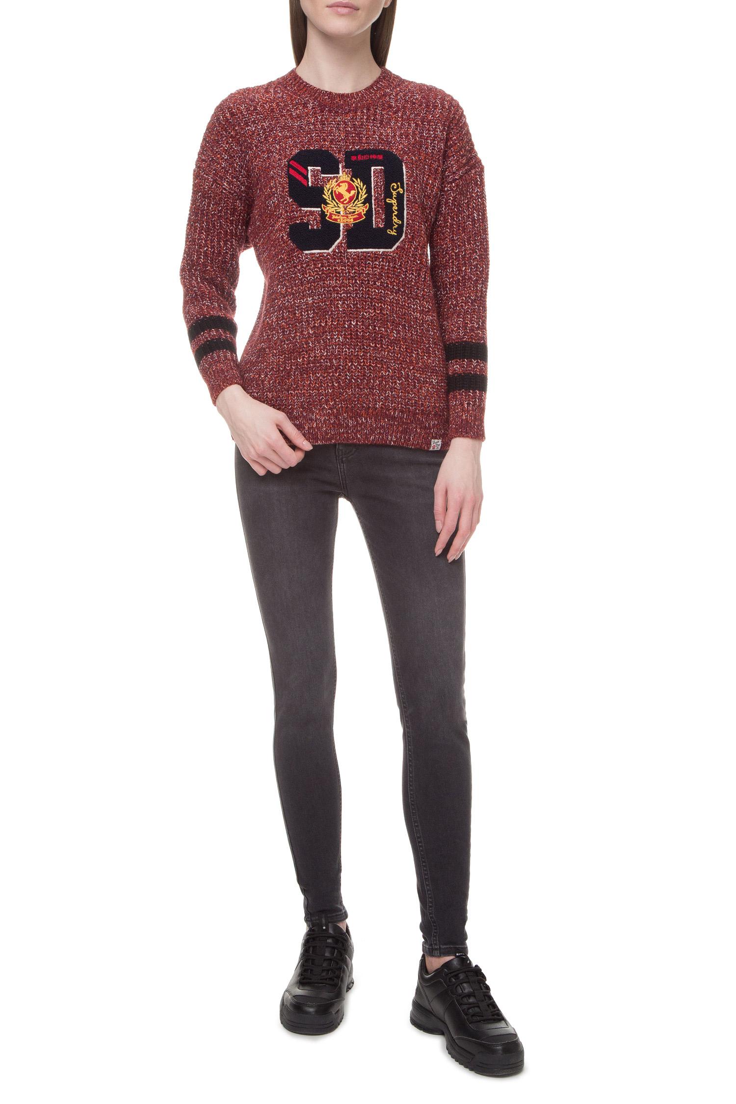 Женский бордовый свитер SuperDry W6100031A;Q6D
