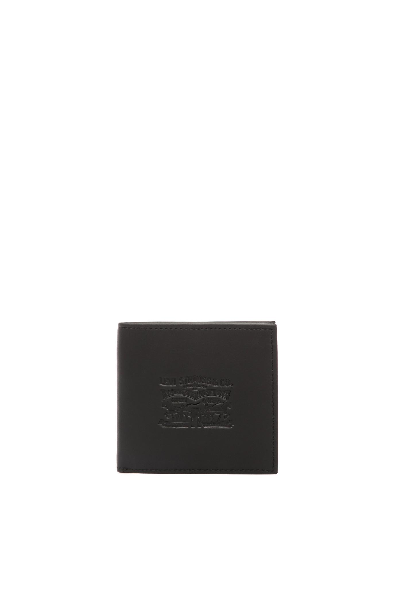 Мужской черный кожаный кошелек Levi's 222539;4.59