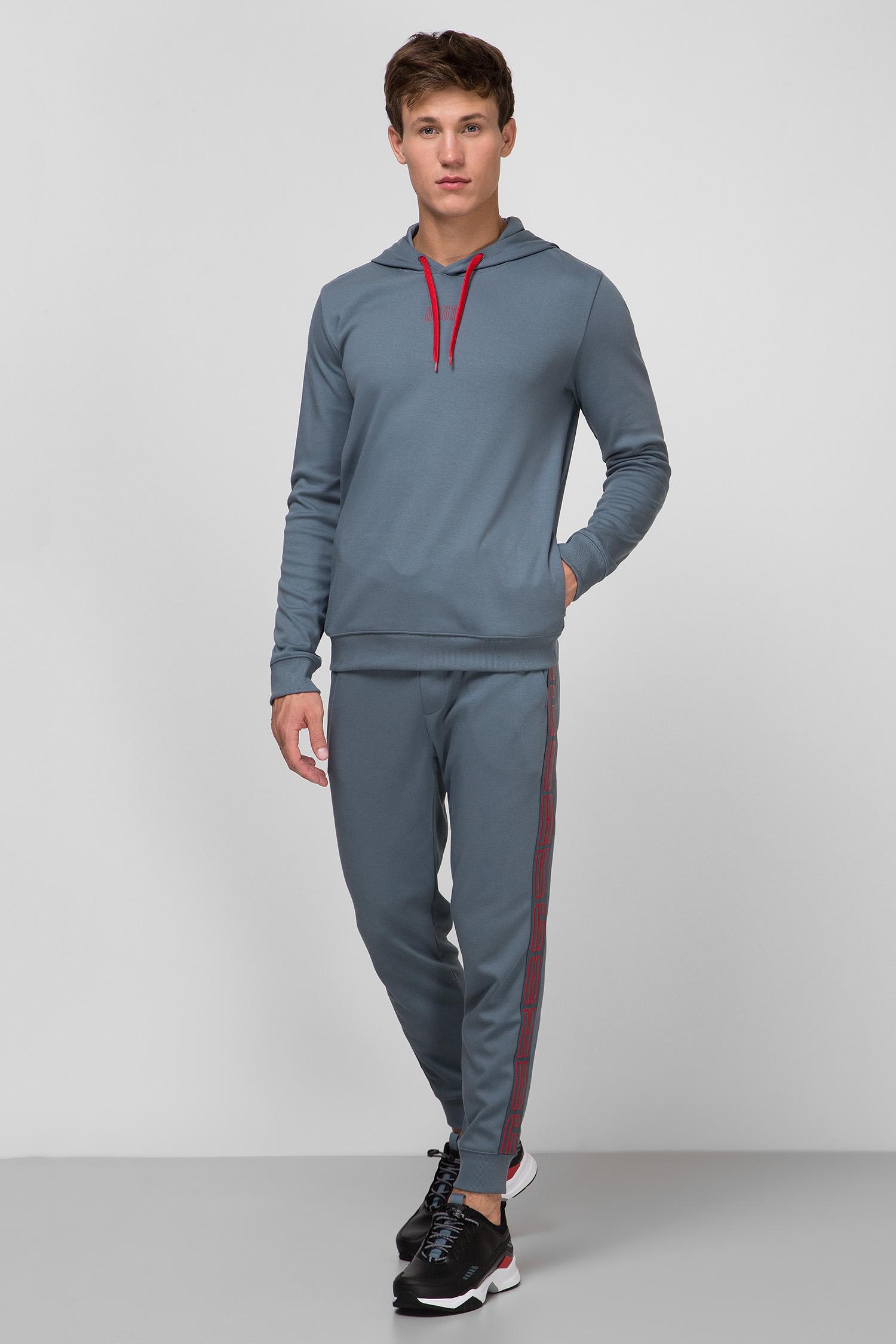 Мужские серые спортивные брюки HUGO 50432341;027