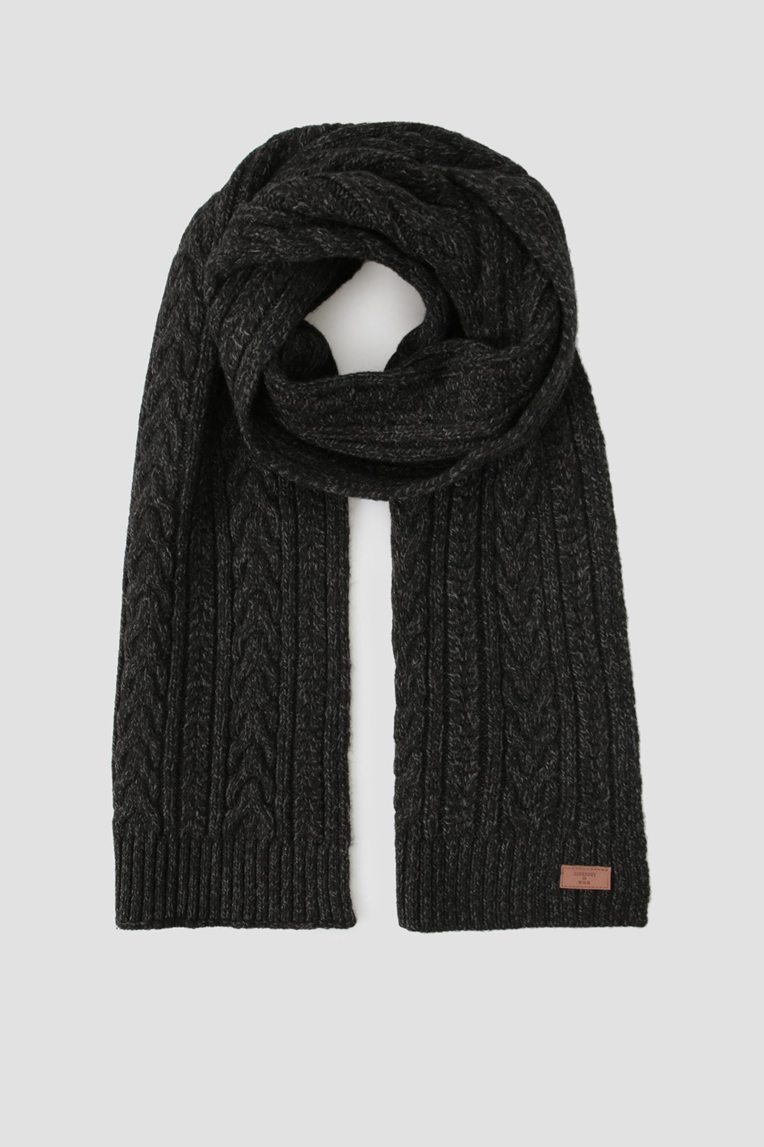 Черный шарф для парней SuperDry M9310015A;V6K