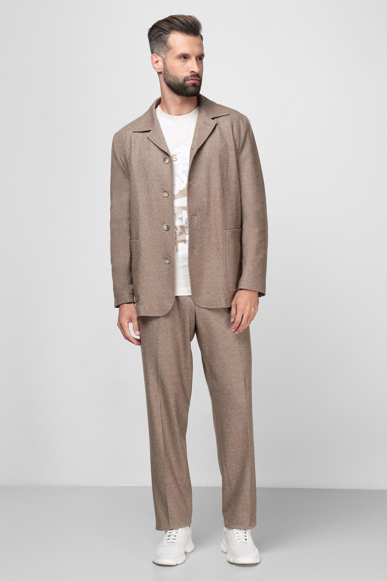 Чоловічі бежеві вовняні брюки BOSS 50458828;240