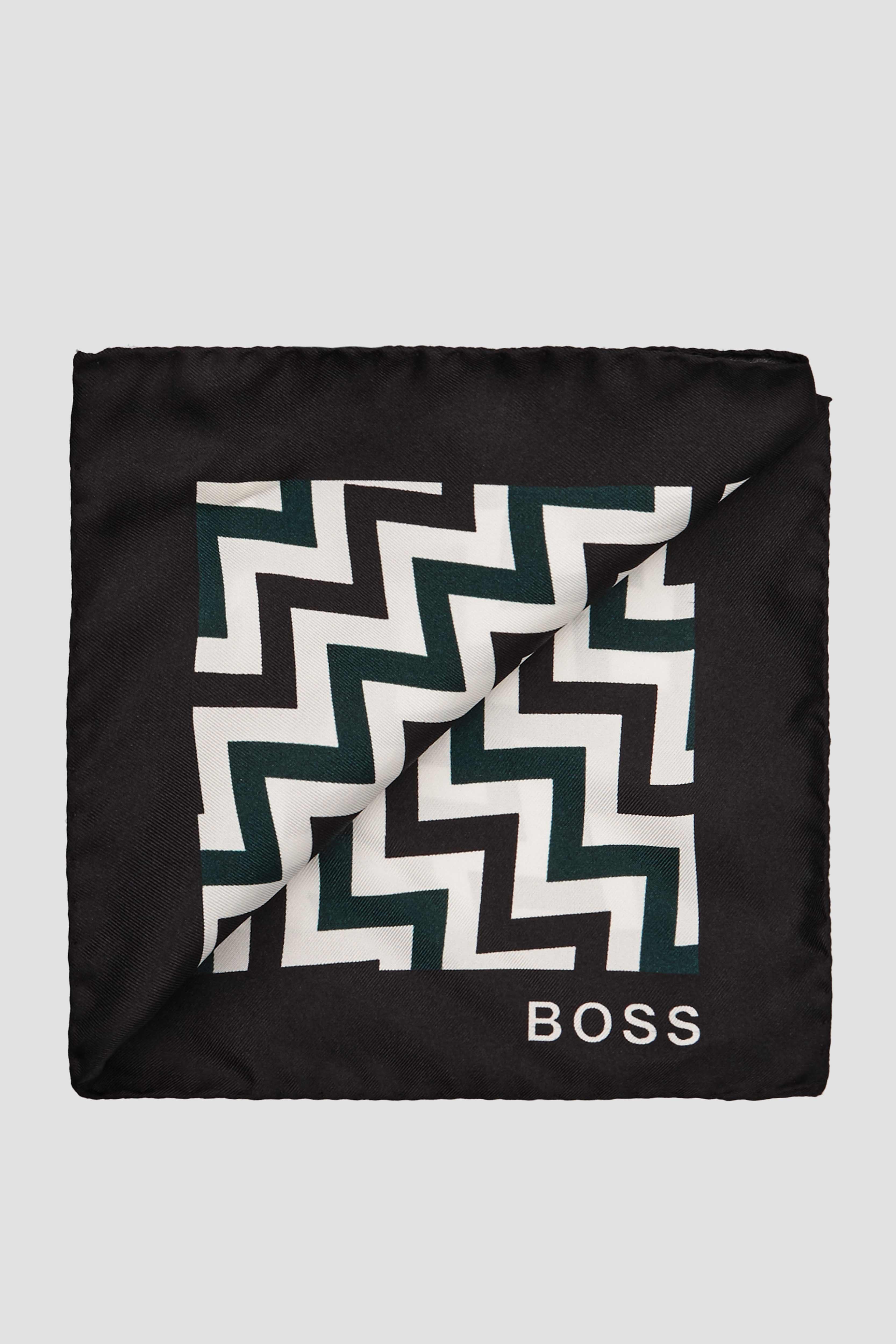 Мужской шелковый платок с принтом BOSS 50441128;001