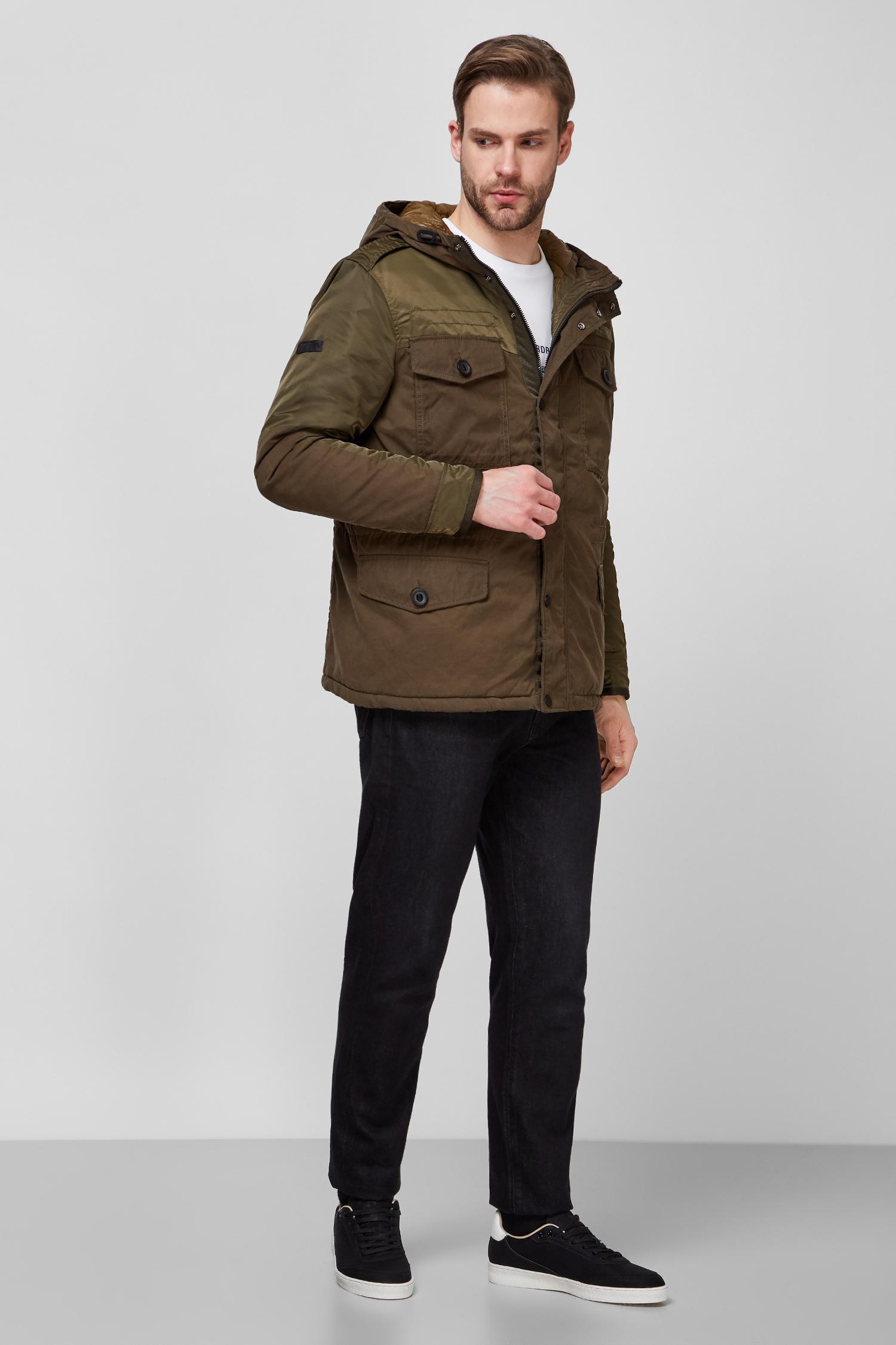 Мужская зеленая куртка SuperDry M5010243A;03O