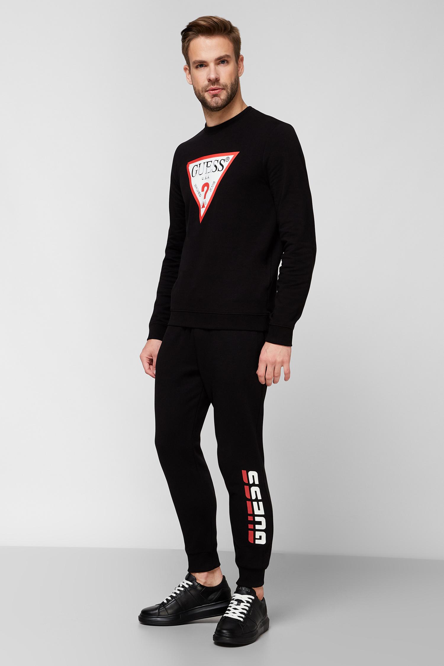 Мужские черные спортивные брюки Guess U0BA49.K9V31;JBLK