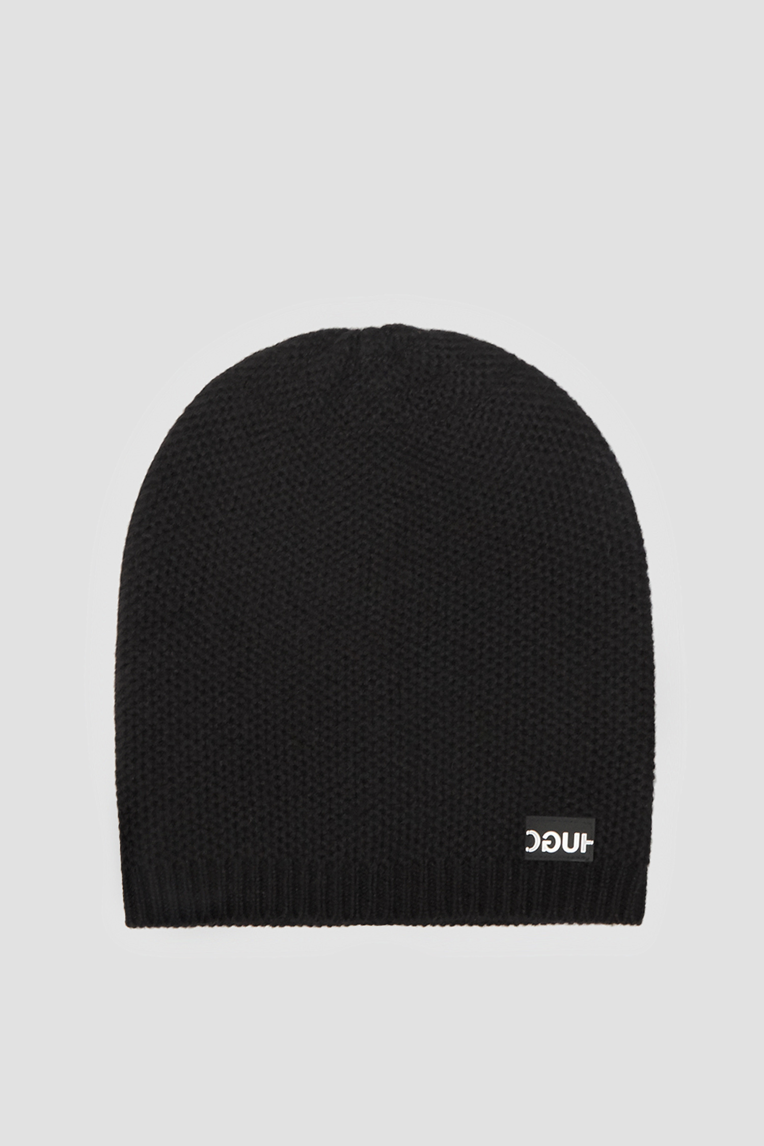 Женская черная кашемировая шапка HUGO 50440663;001