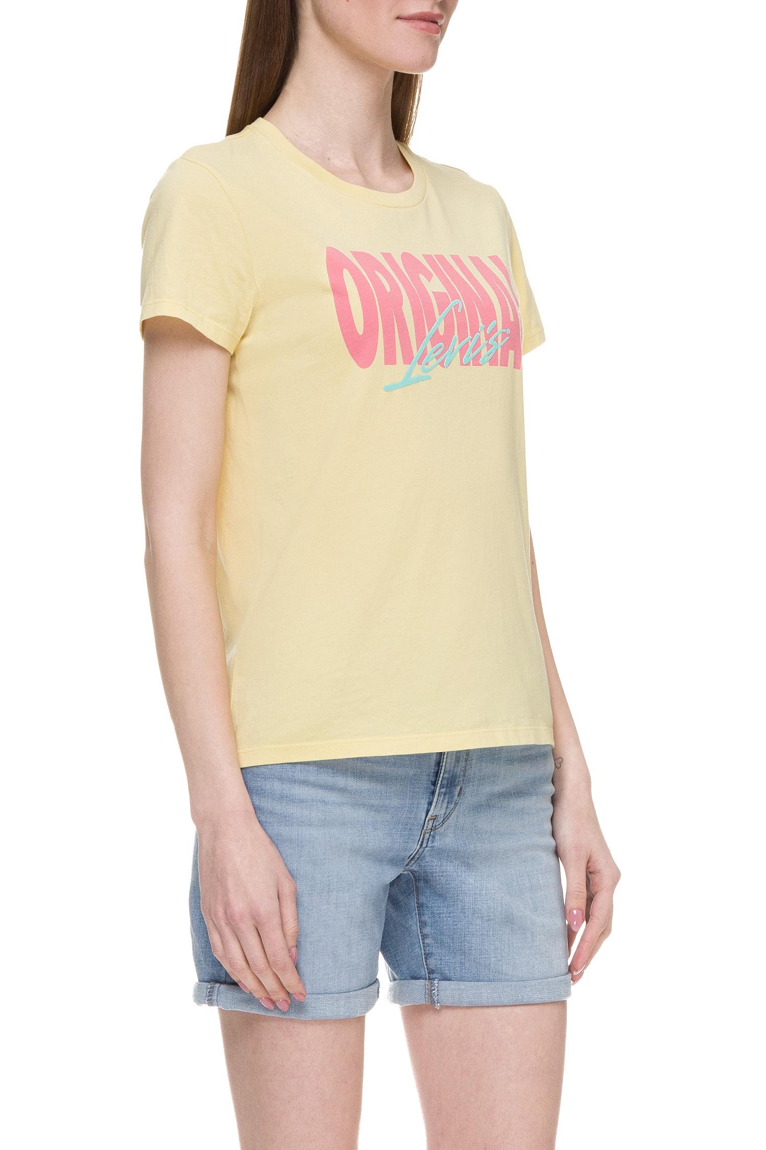 Женская желтая футболка Levi's 17369;0798