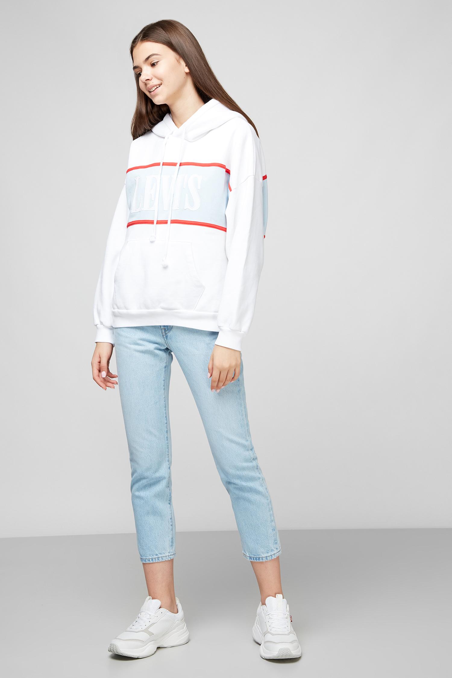Белое худи для девушек Levi's 85774;0000