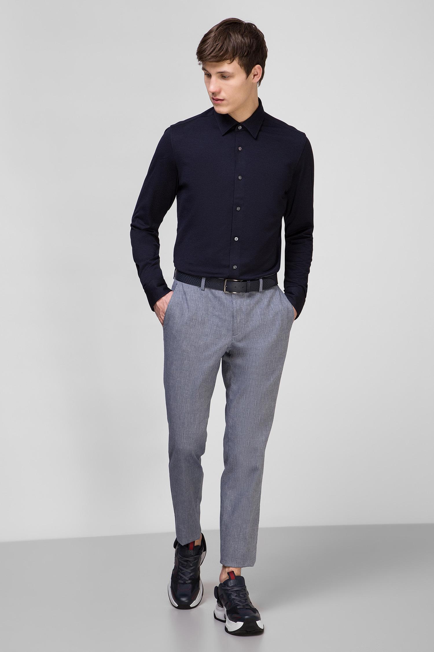 Мужская темно-синяя рубашка BOSS 50416714;402