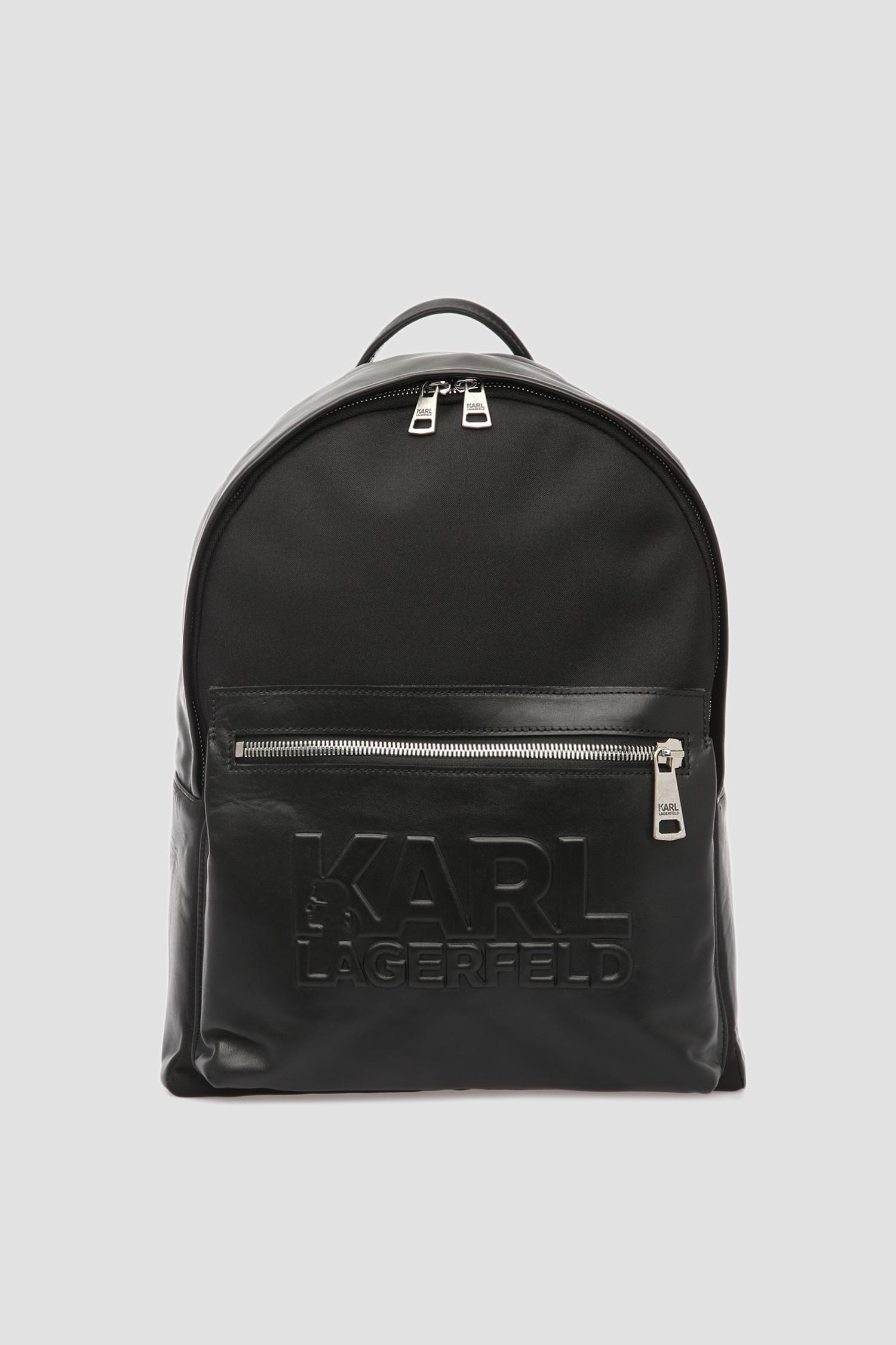 Чоловічий чорний шкіряний рюкзак Karl Lagerfeld 591450.815901;990
