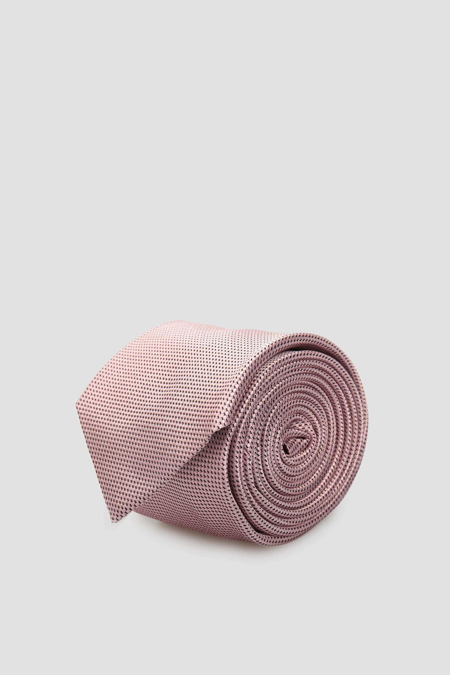 Мужской розовый шелковый галстук BOSS 50434792;682