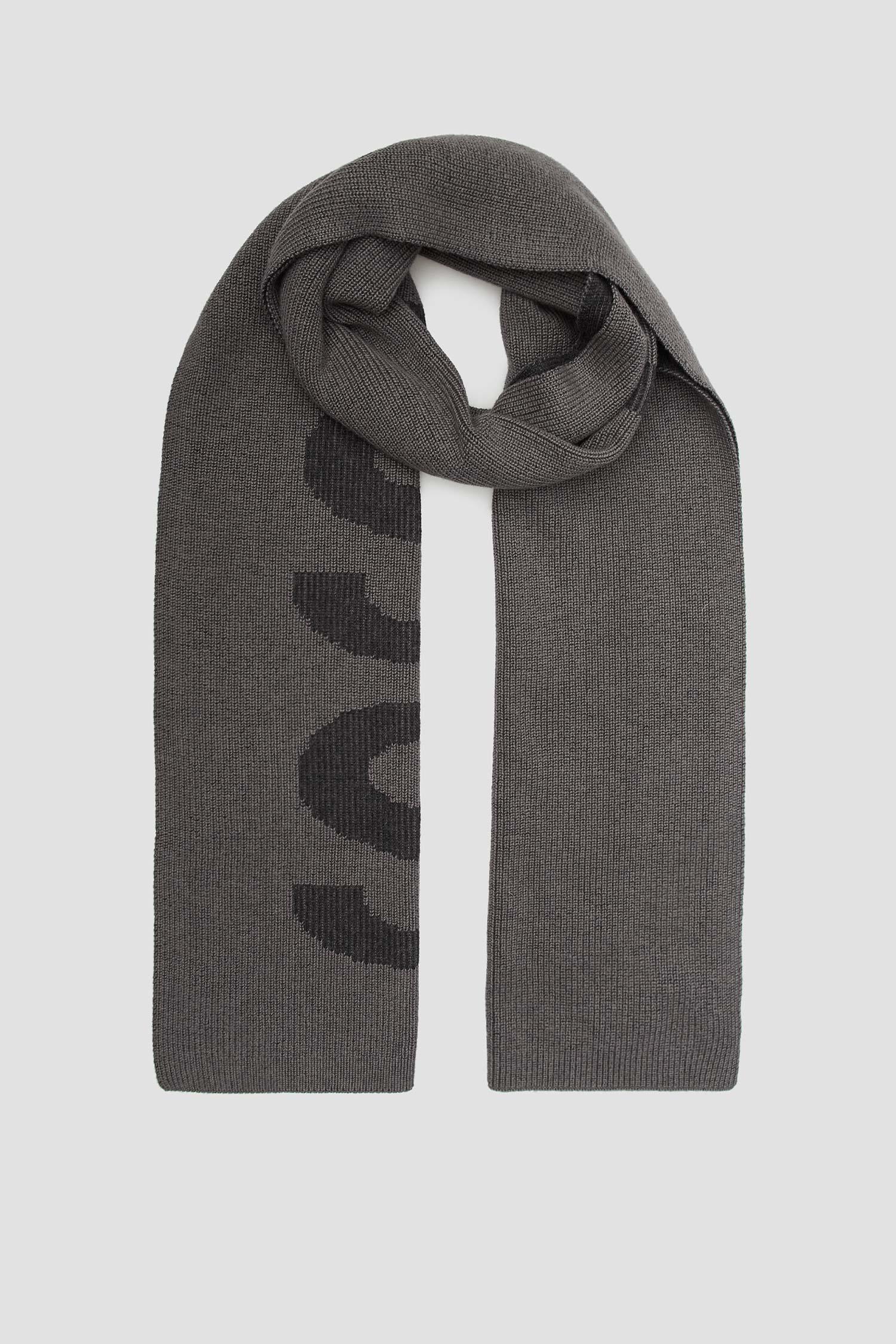 Чоловічий сірий шарф BOSS 50455684;030