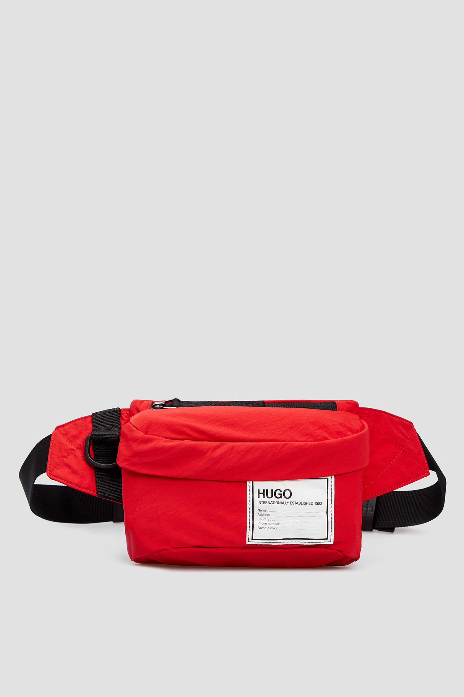 Мужская красная поясная сумка HUGO 50434852;610