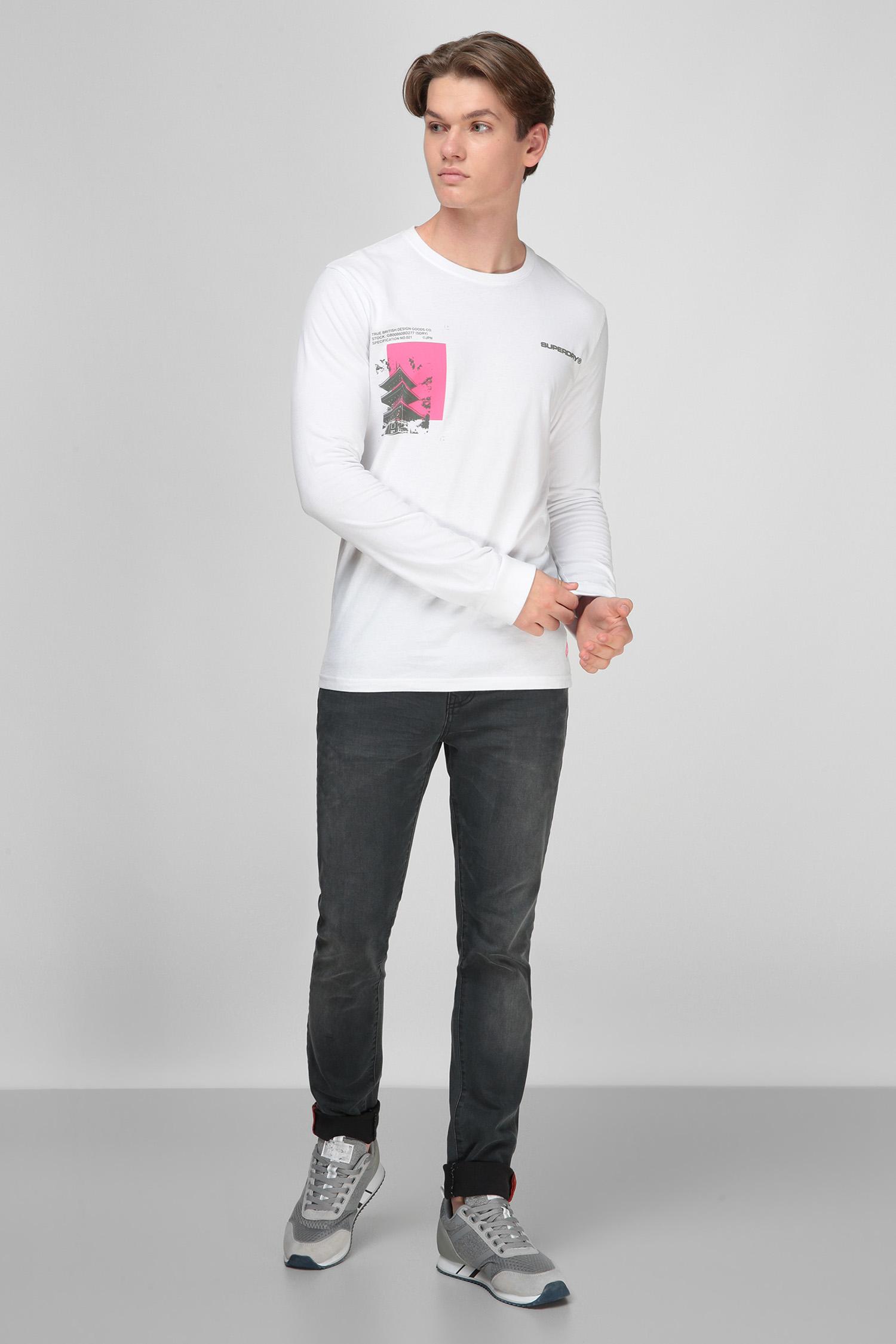 Белый лонгслив для парней SuperDry M6010079A;01C