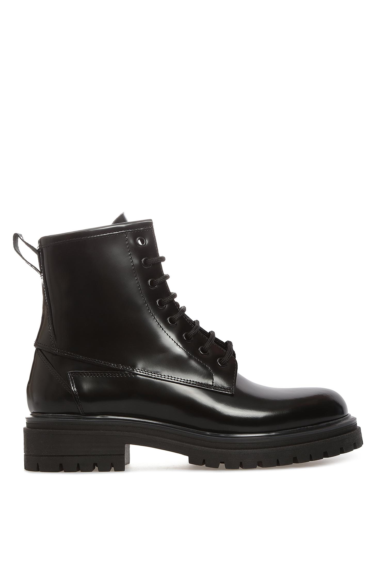 Женские черные кожаные ботинки HUGO 50418888;001