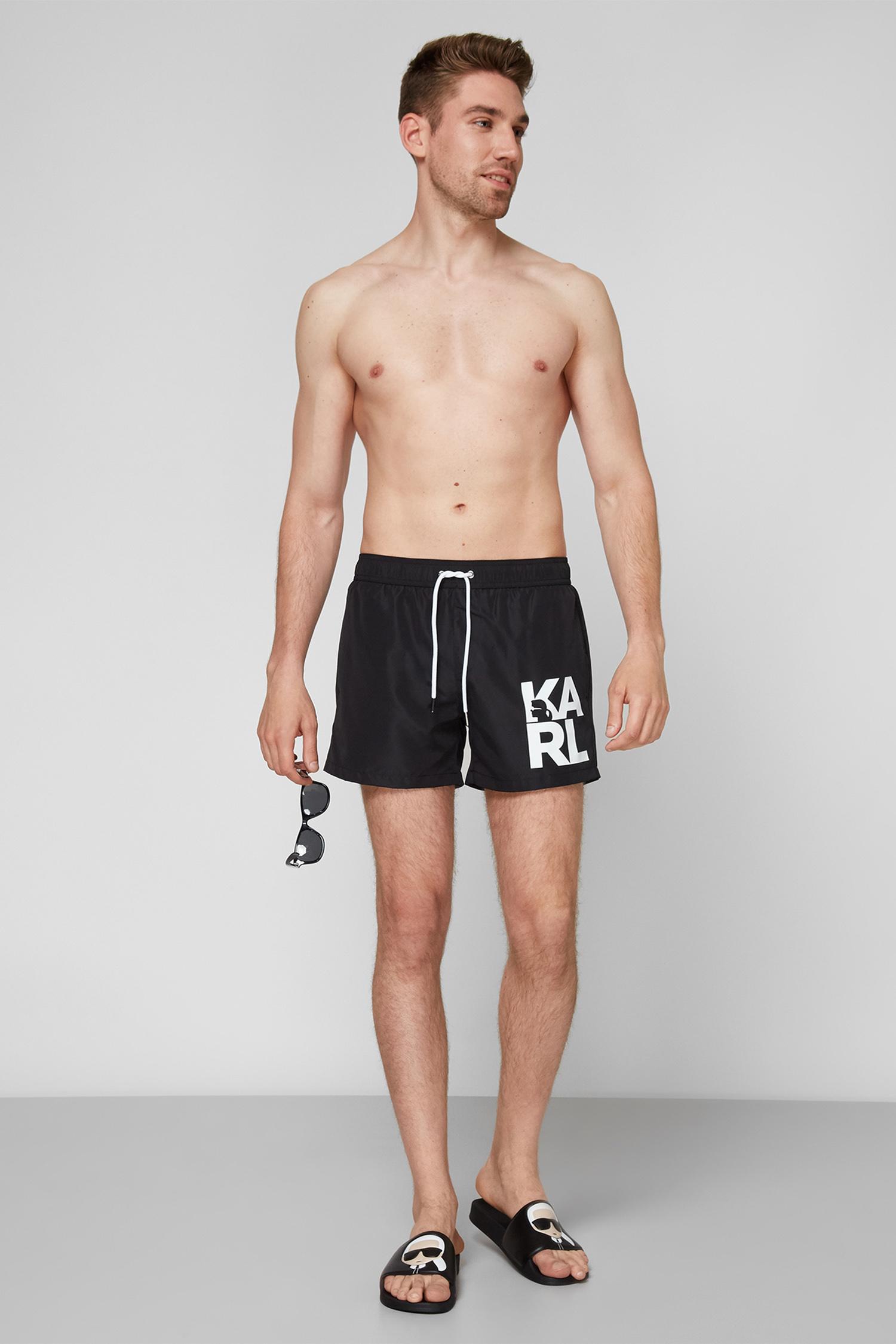 Мужские черные плавательные шорты Karl Lagerfeld KL21MBS02;BLACK