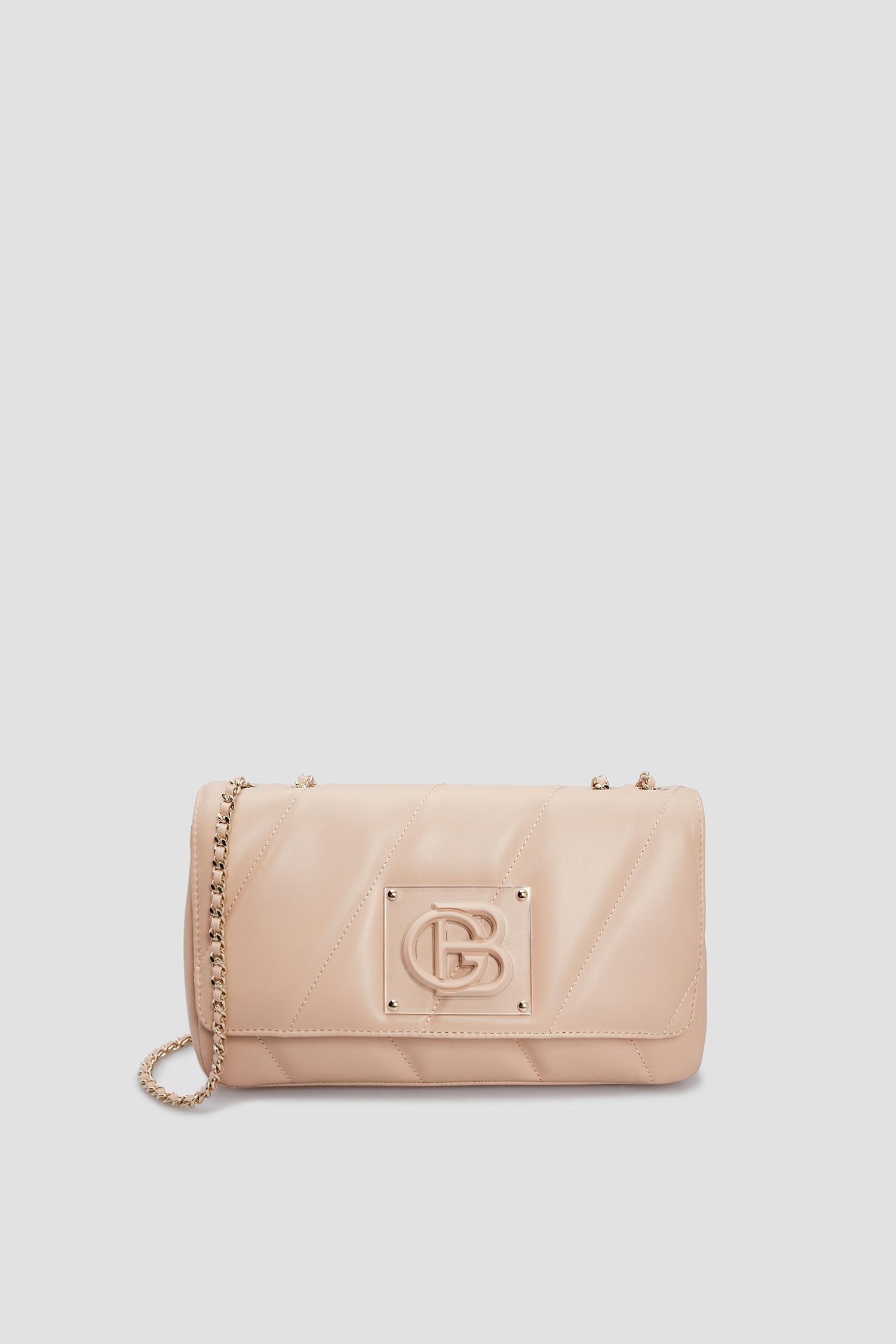 Женская бежевая кожаная сумка Baldinini 170215;7890