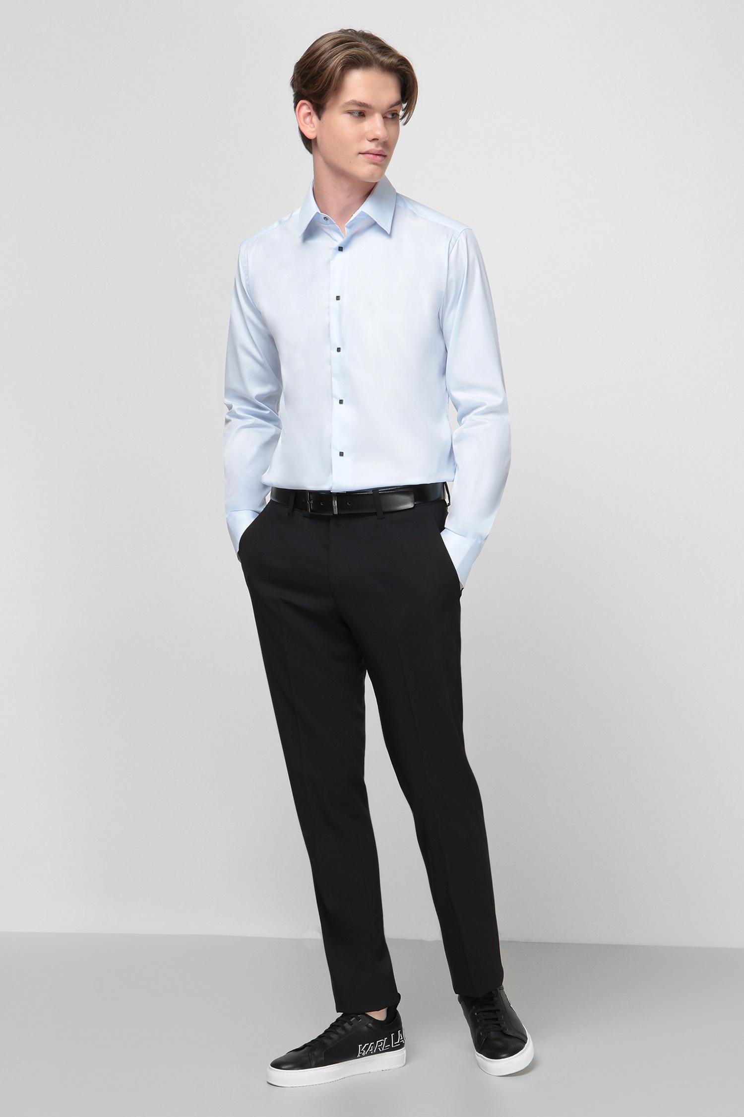 Голубая рубашка для парней Karl Lagerfeld 500699.605000;620