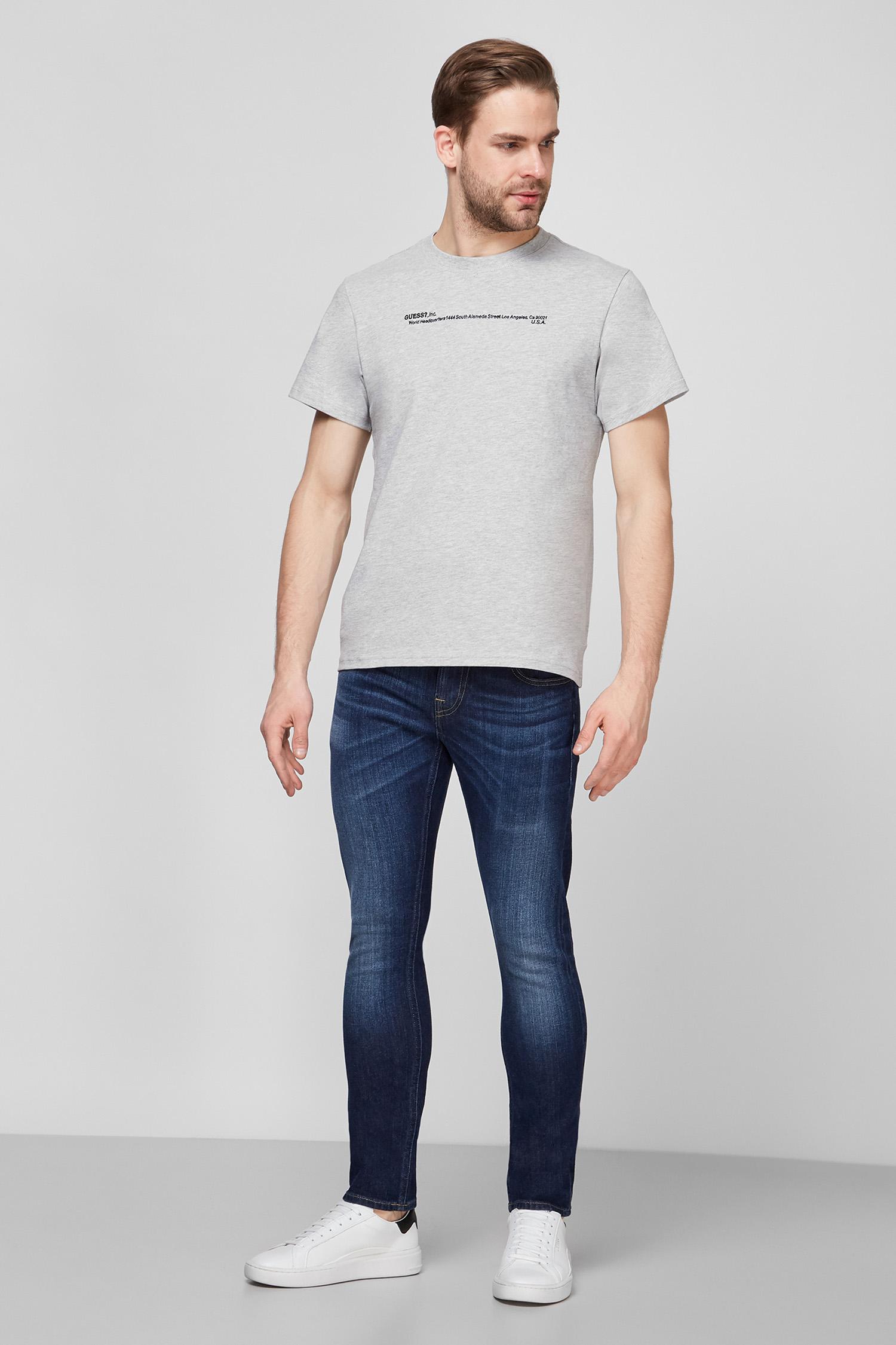 Мужская серая футболка Guess M1RI91.KAG00;LHY