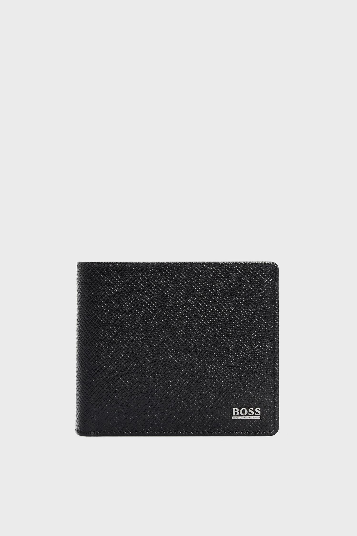 Чоловічий чорний шкіряний гаманець BOSS 50452067;001