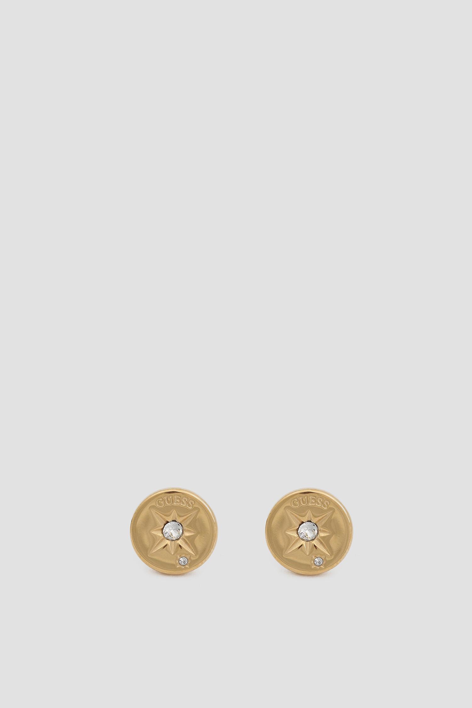 Женские золотистые серьги Guess UBE20018;GL