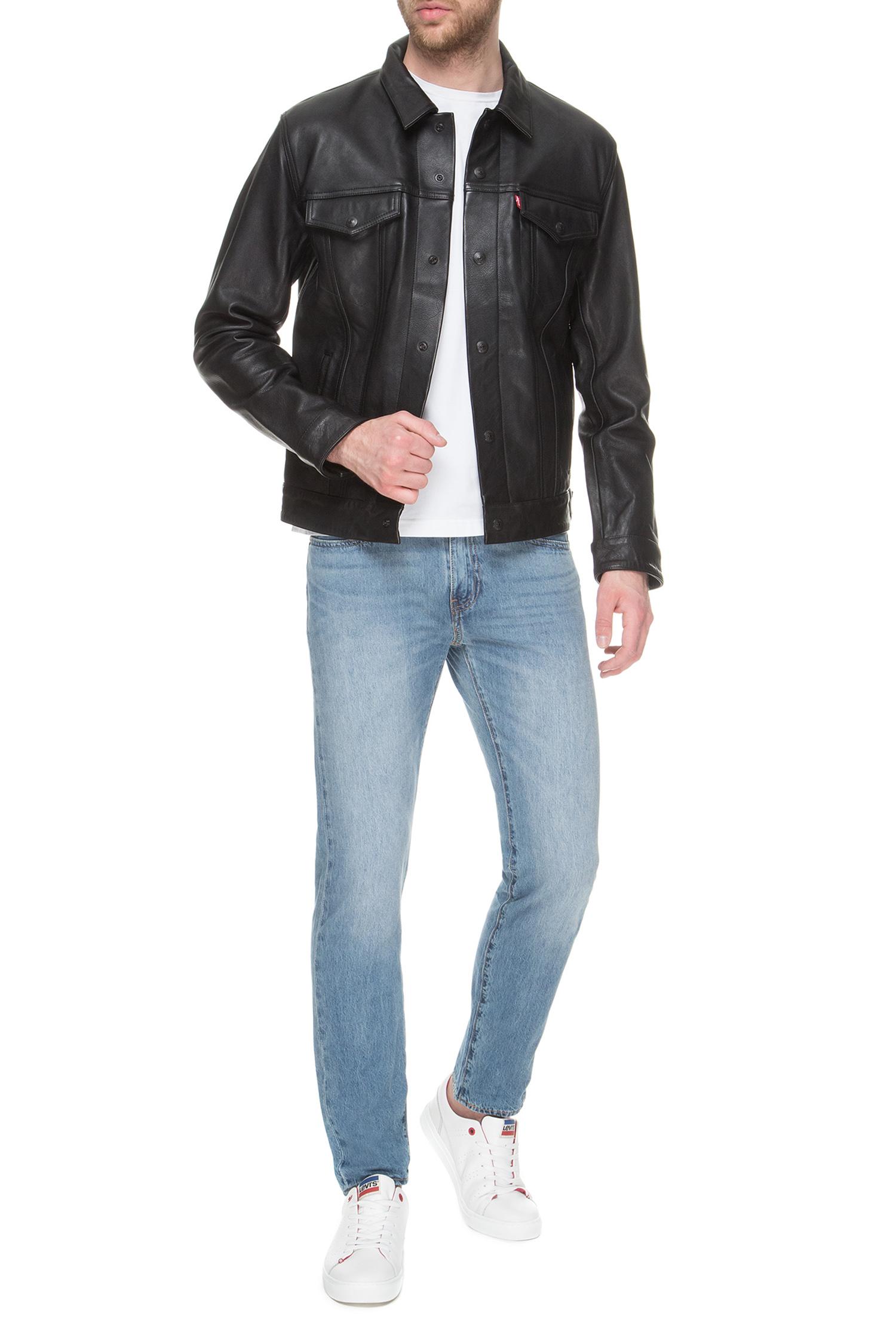 Мужская черная кожаная куртка Levi's 57727;0002