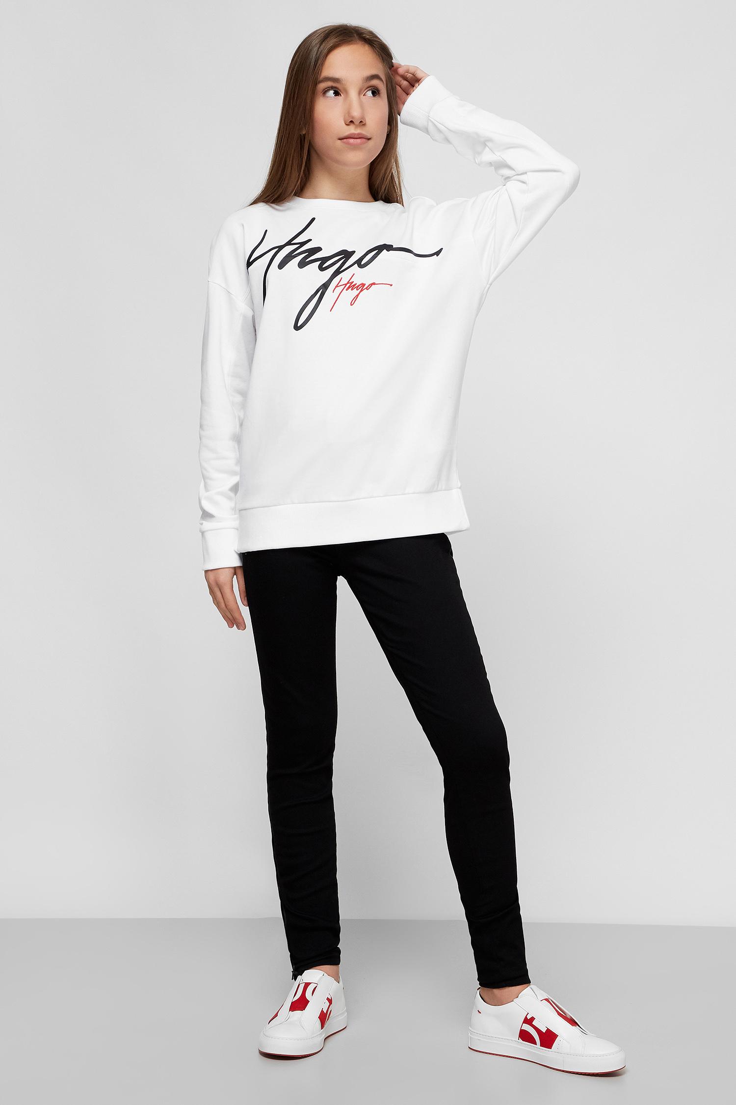 Белый свитшот с принтом для девушек HUGO 50430019;100