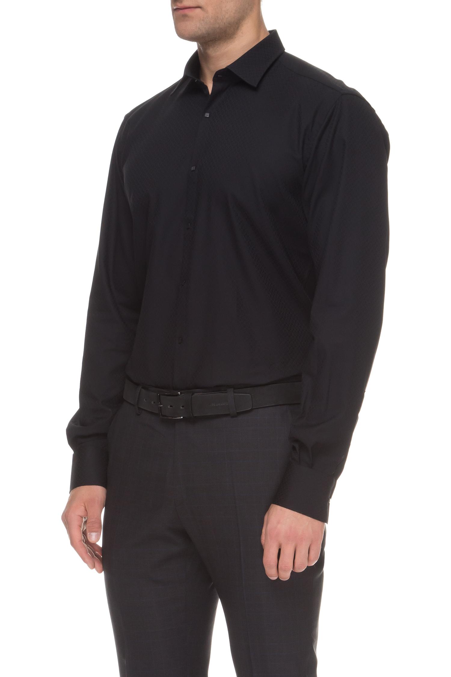 Мужская черная рубашка Karl Lagerfeld 592628.605003;990