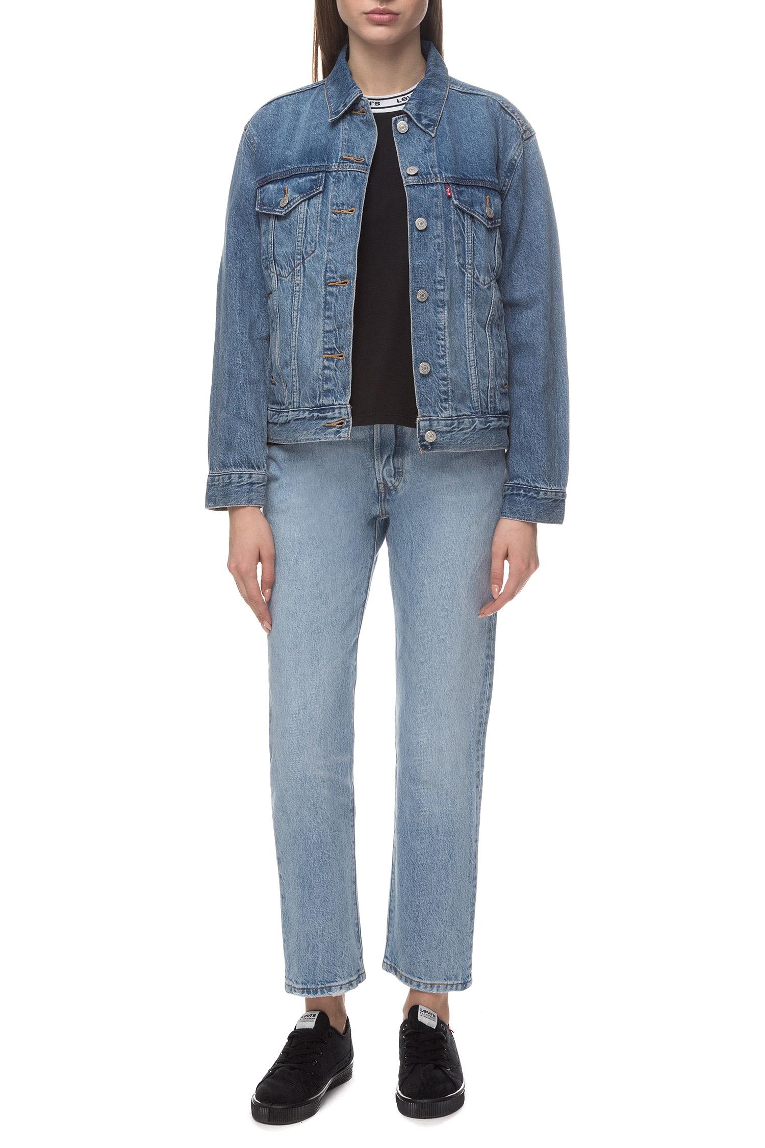 Женская голубая джинсовая куртка Levi's 29944;0055
