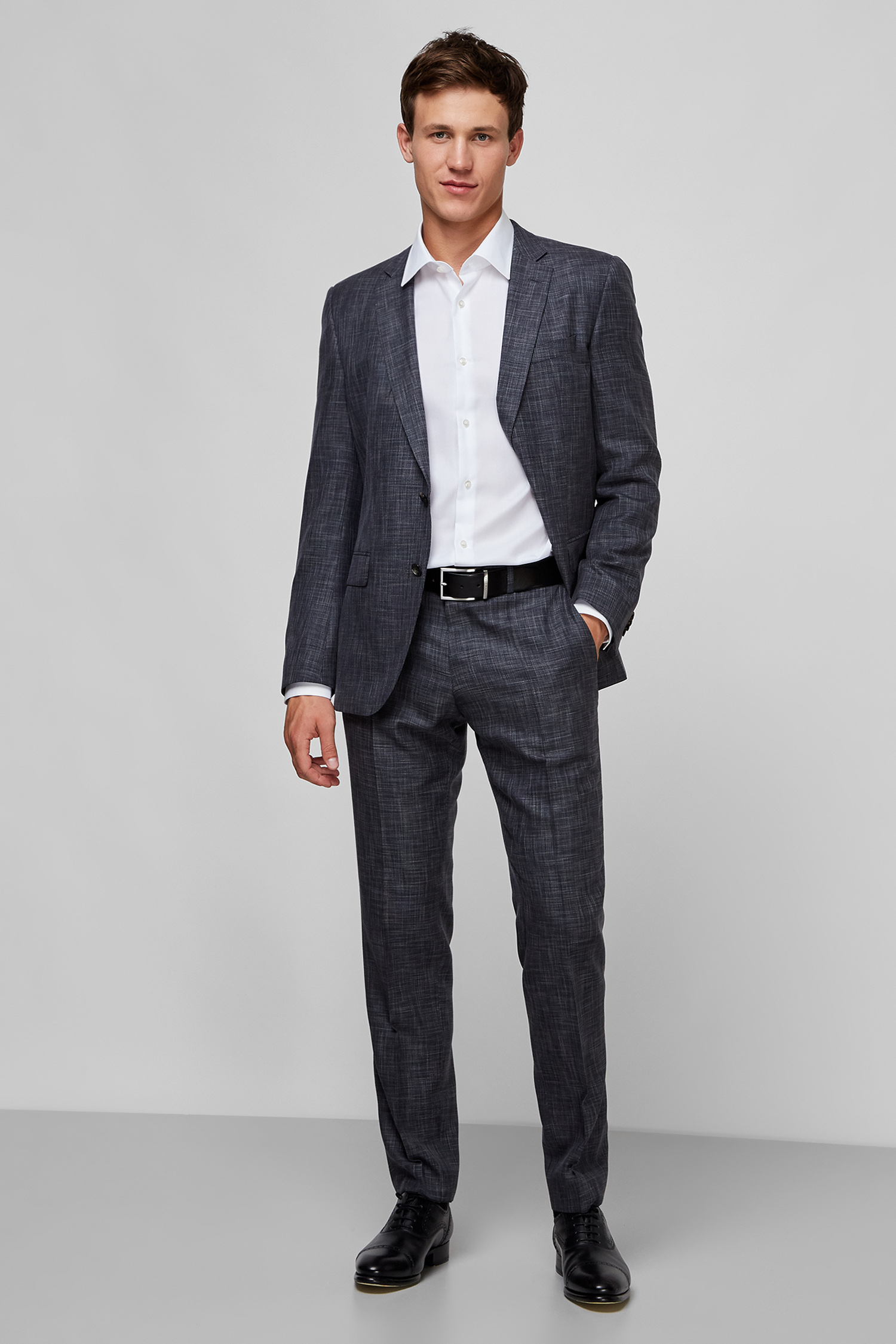 Мужская белая рубашка Slim Fit BOSS 50432640;100
