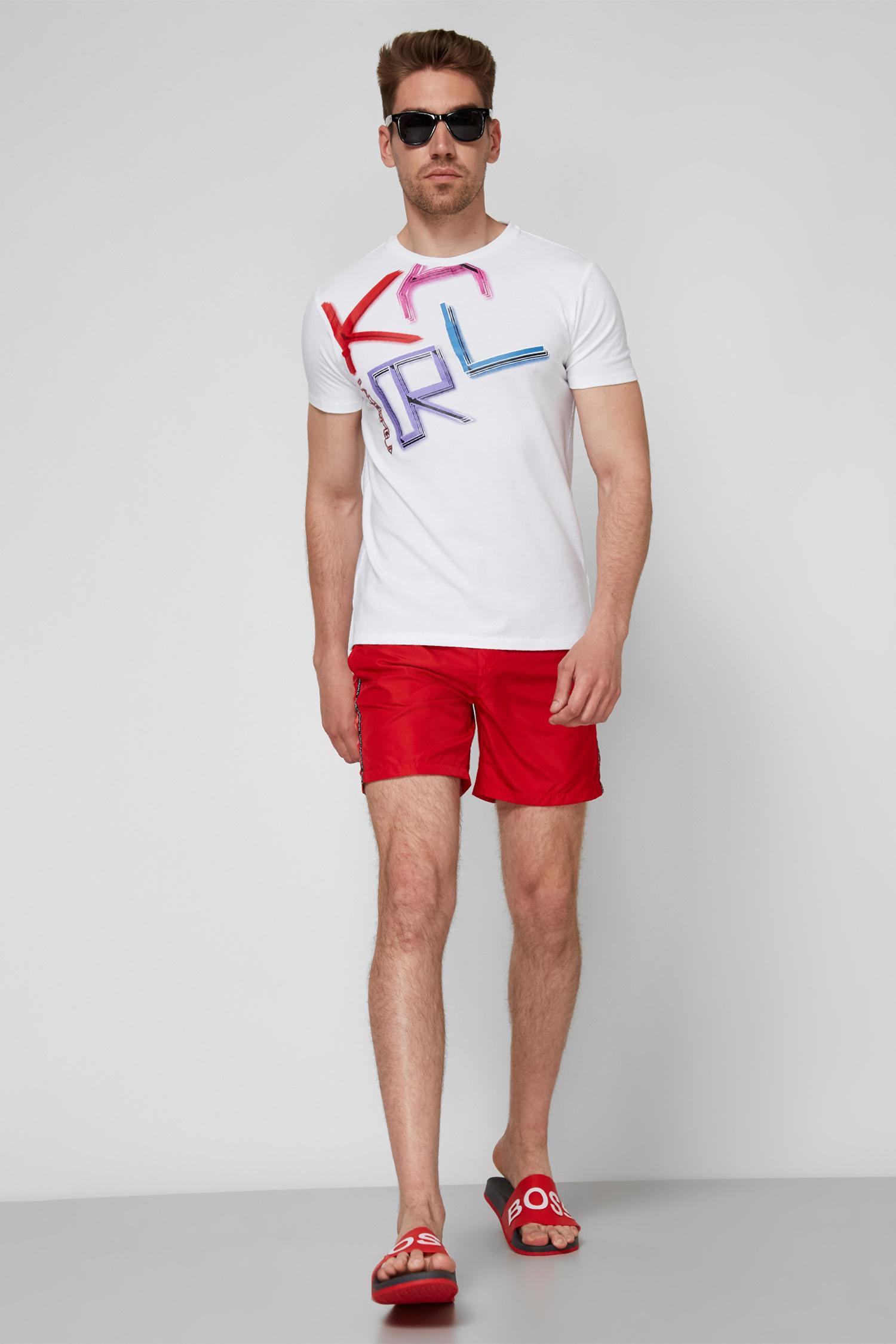 Мужские красные плавательные шорты Karl Lagerfeld KL21MBM03;RED