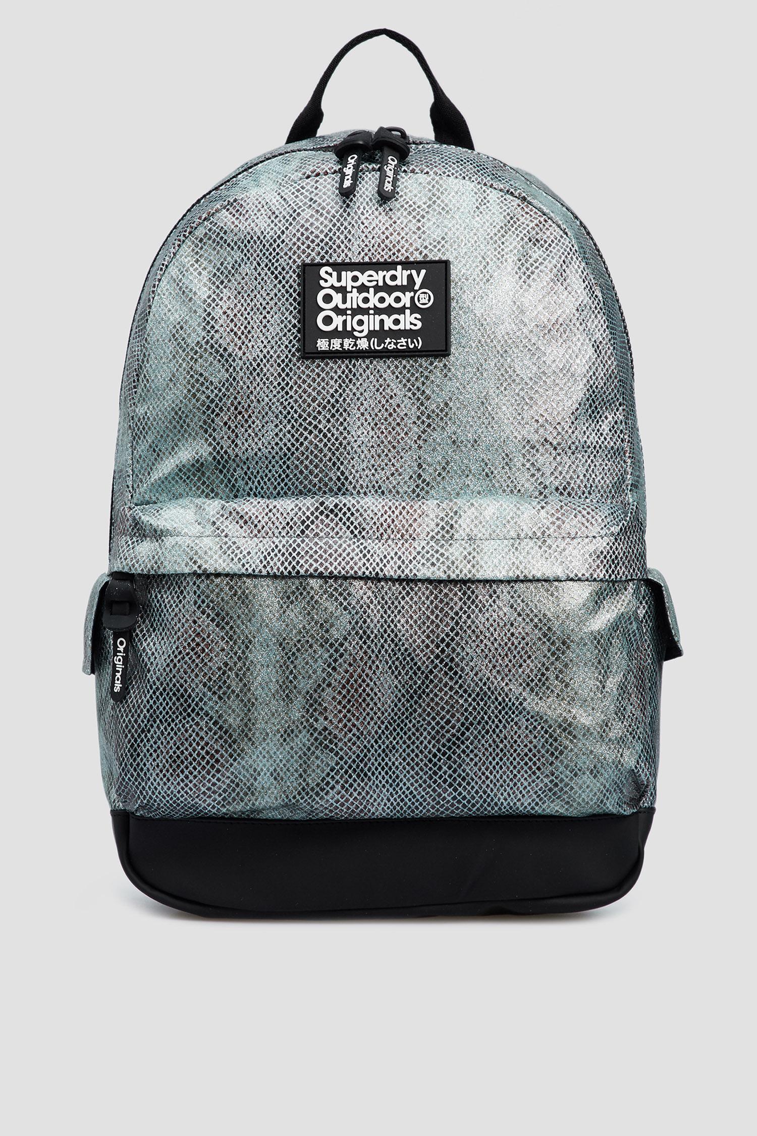 Женский серый рюкзак с принтом SuperDry W9110111A;33G