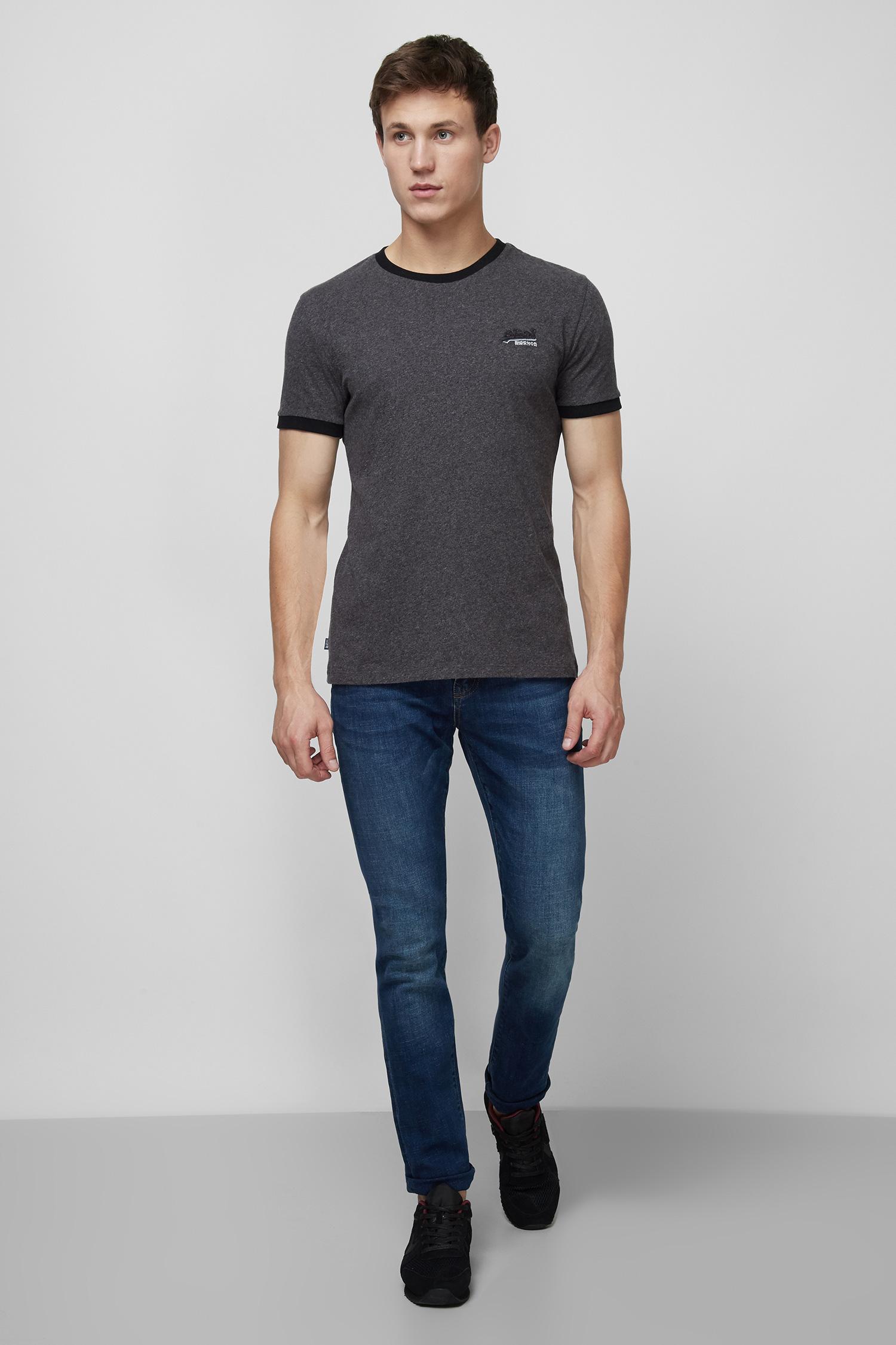Мужская темно-серая футболка SuperDry M1010208A;4DW