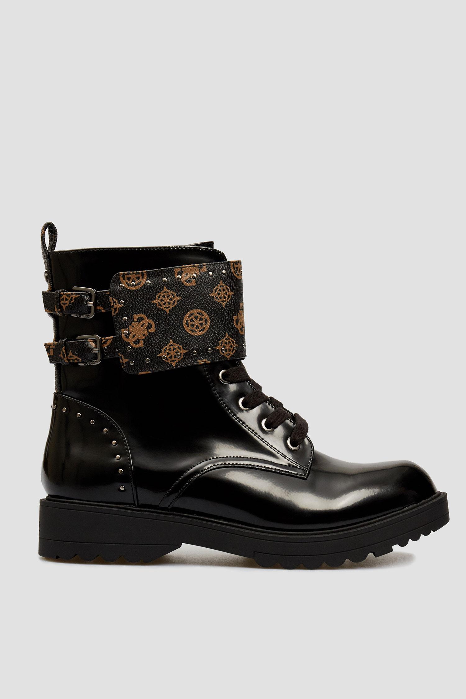 Женские черные ботинки Guess FL7WAN.FAL10;BROCR