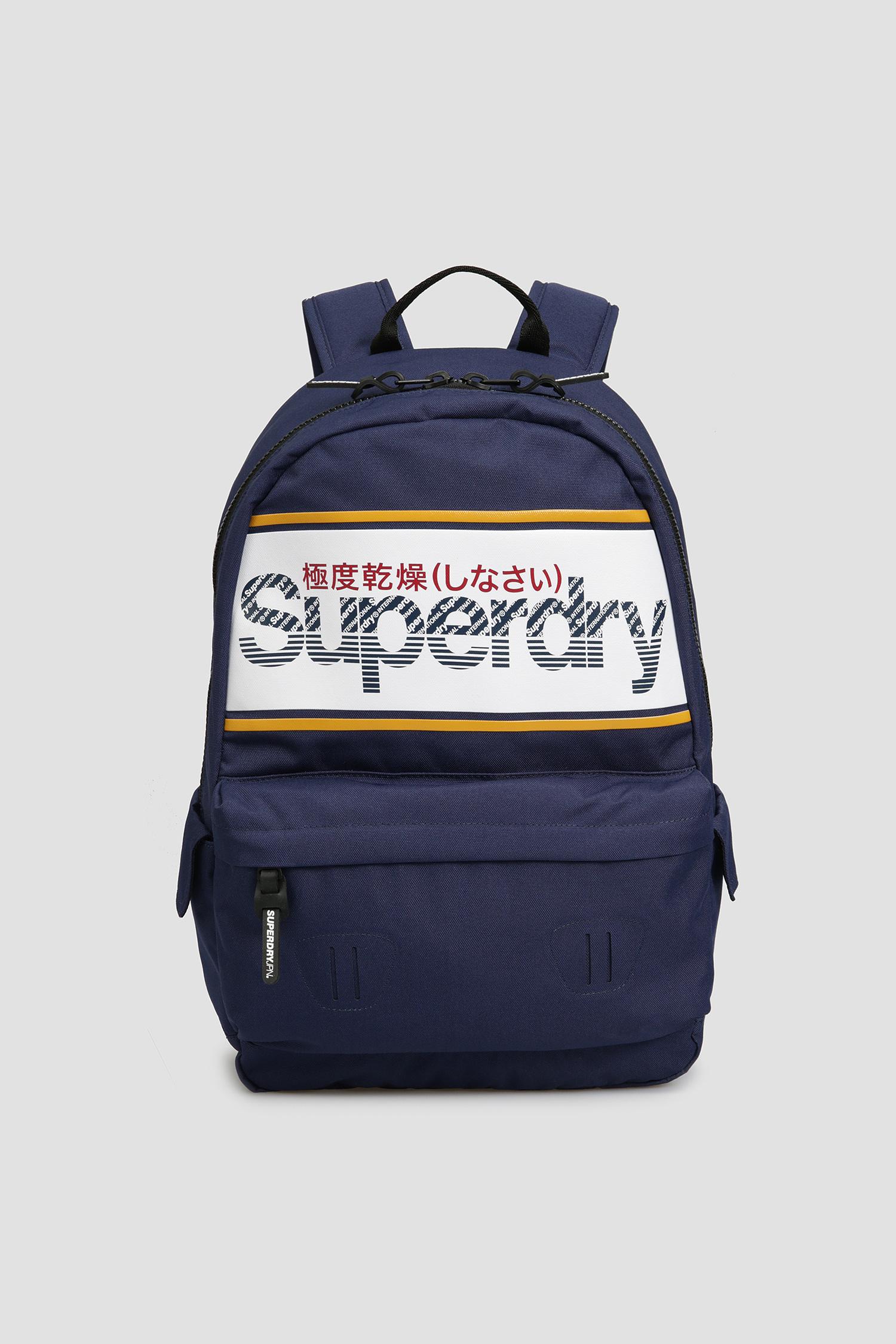 Мужской темно-синий рюкзак с принтом SuperDry M9110072A;T6G