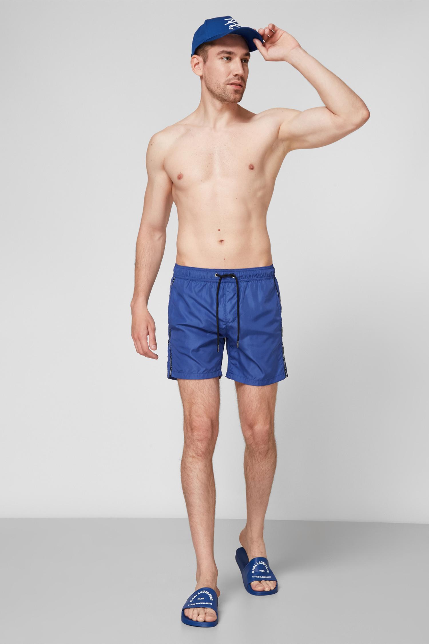 Мужские синие плавательные шорты Karl Lagerfeld KL21MBM03;NAVY