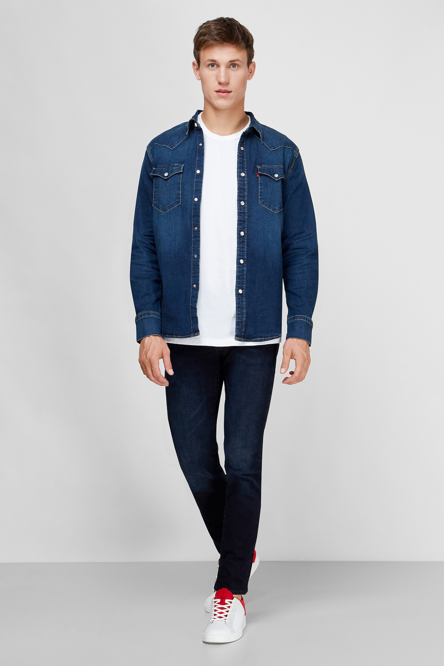 Мужская темно-синяя джинсовая рубашка Slim Fit Levi's 85744;0009