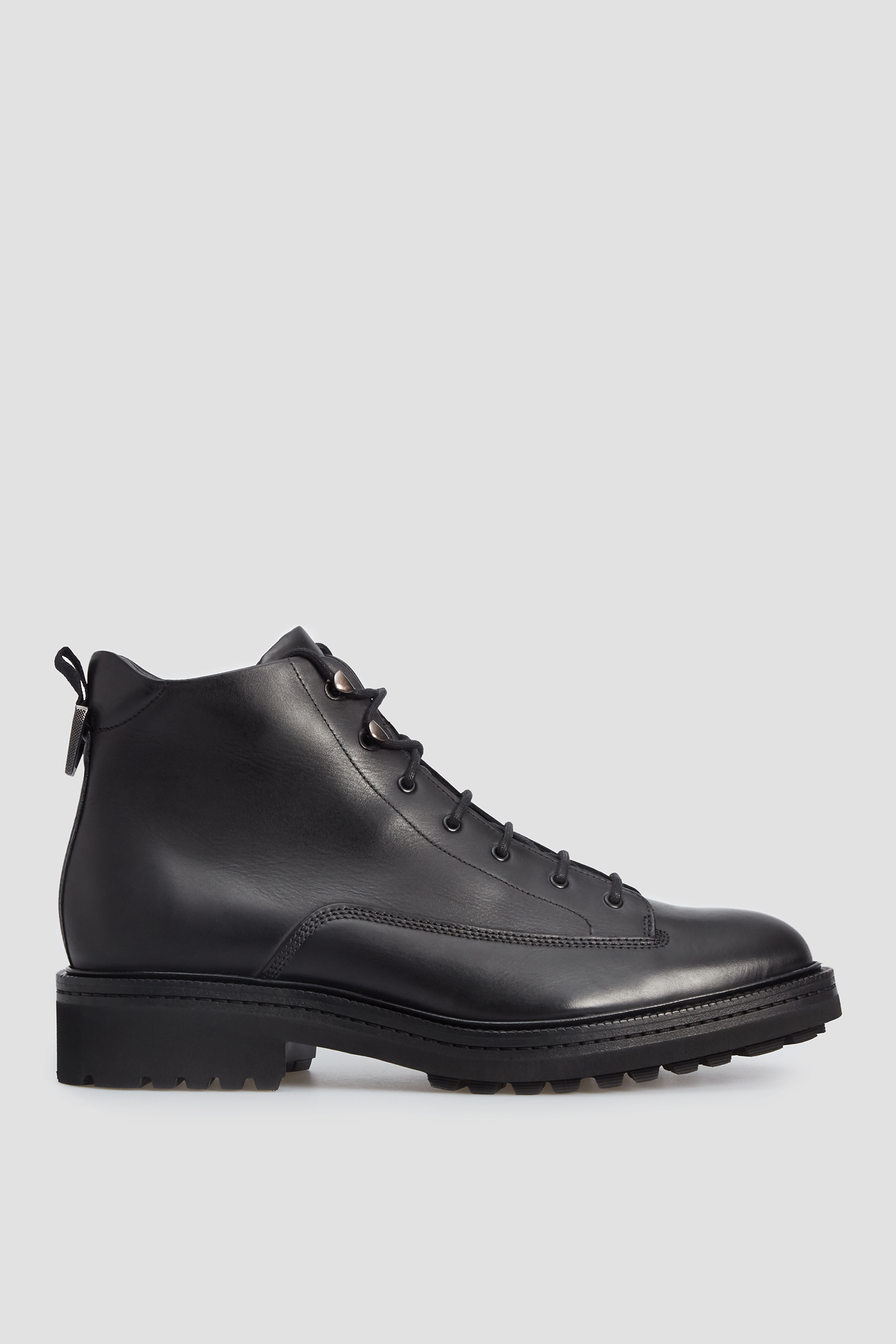 Мужские черные кожаные ботинки HUGO 50441117;001