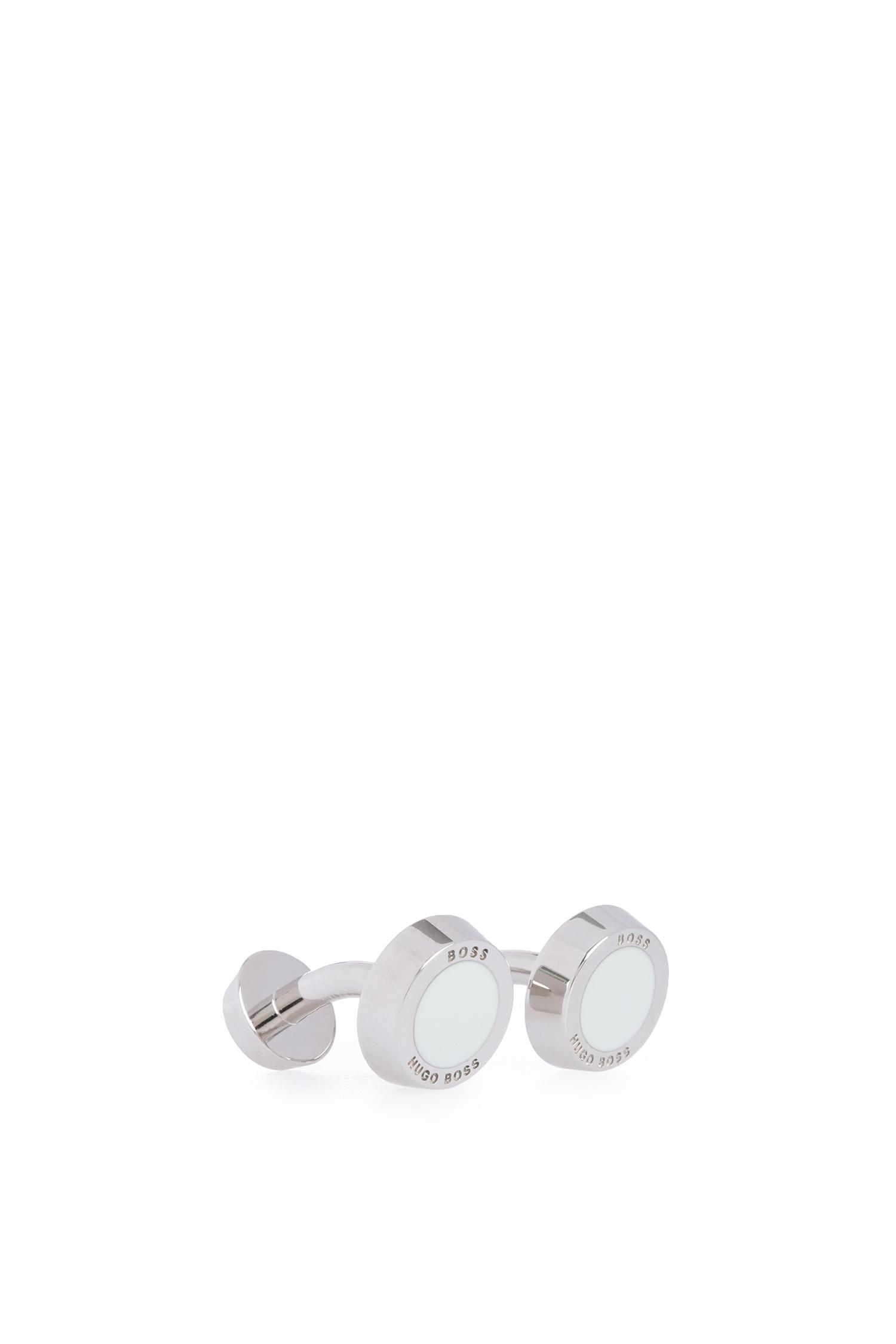 Мужские серебристые запонки BOSS 50219288;100