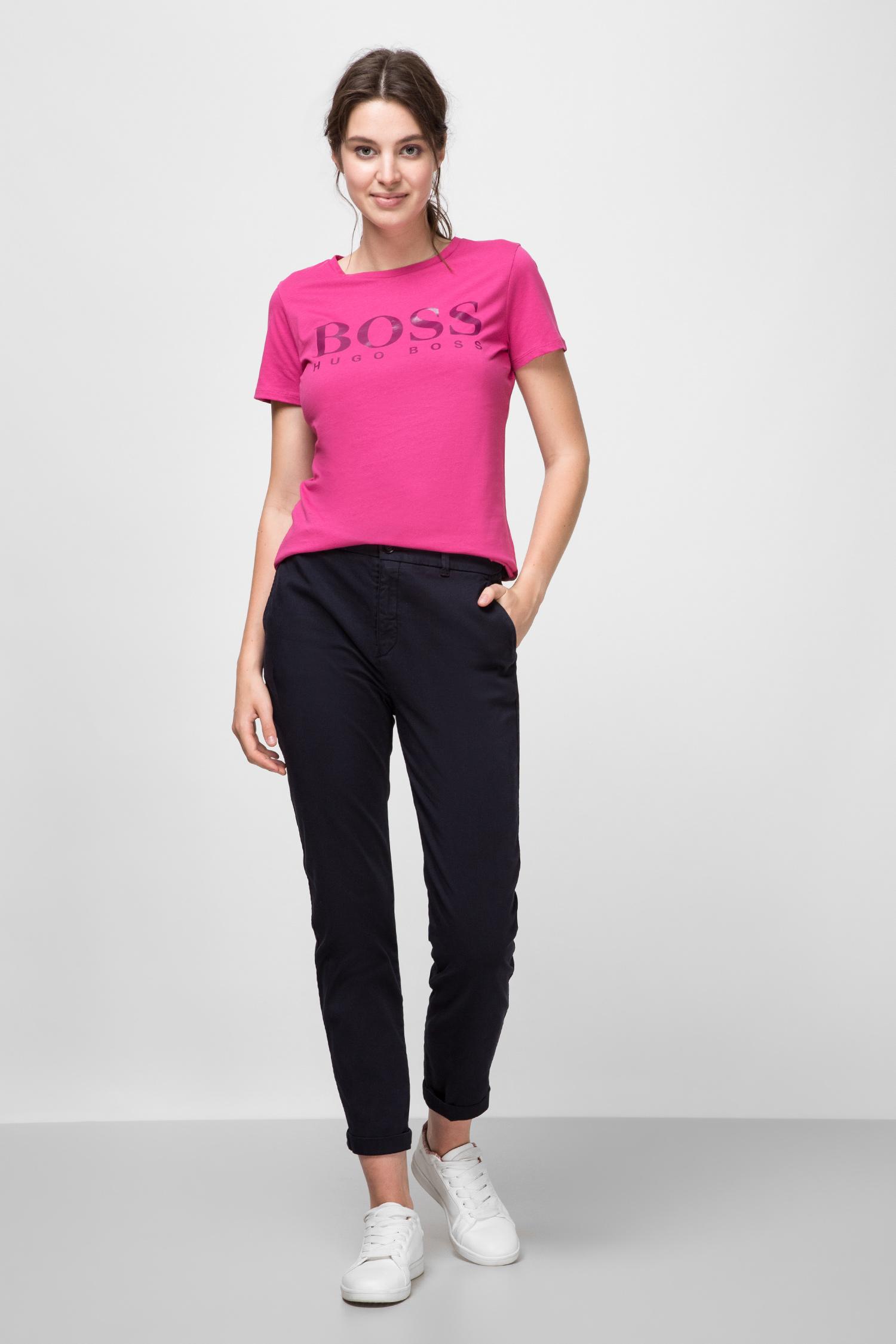 Женские темно-синие брюки BOSS 50435658;466