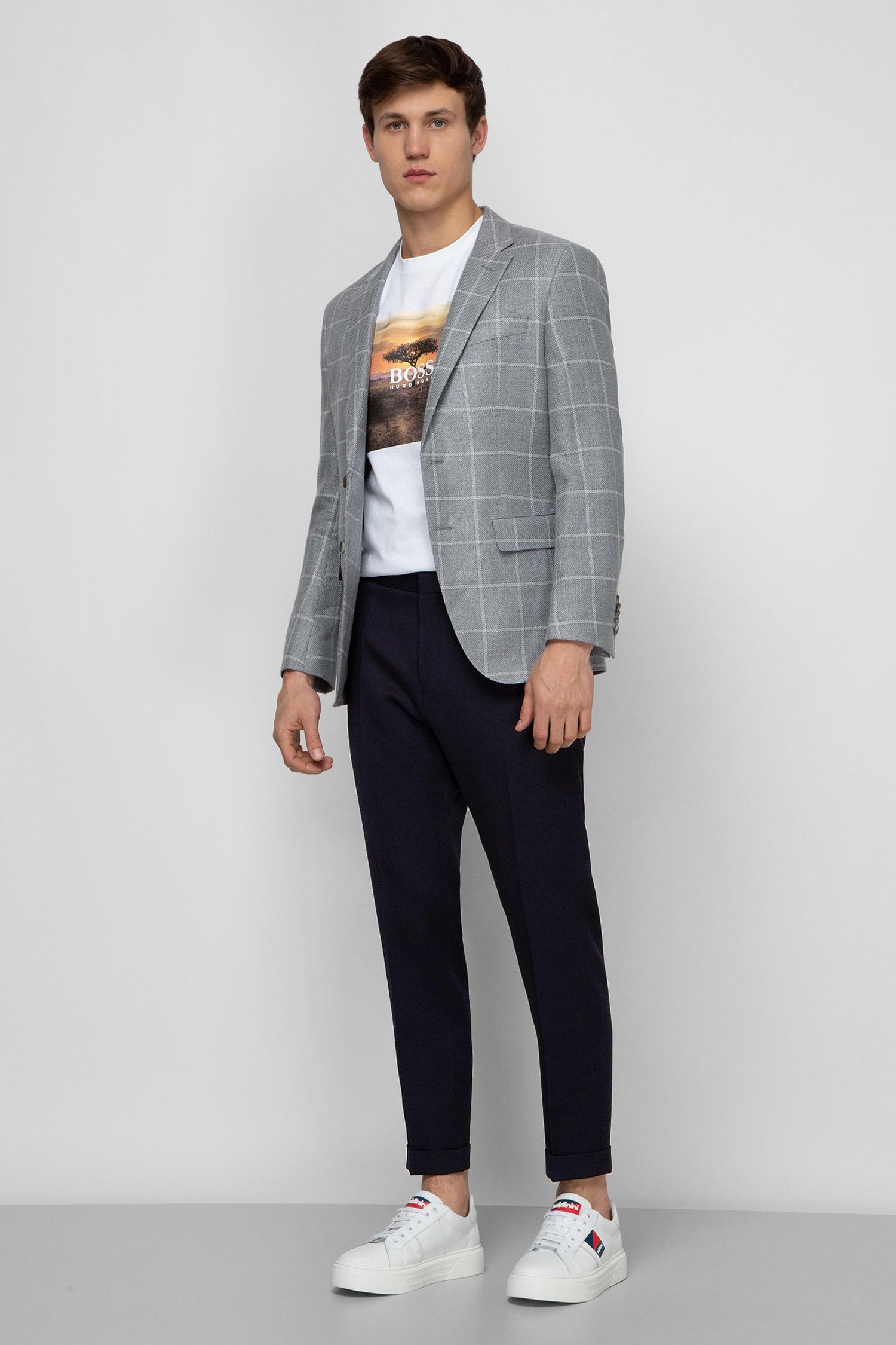Мужские темно-синие брюки BOSS 50427150;402