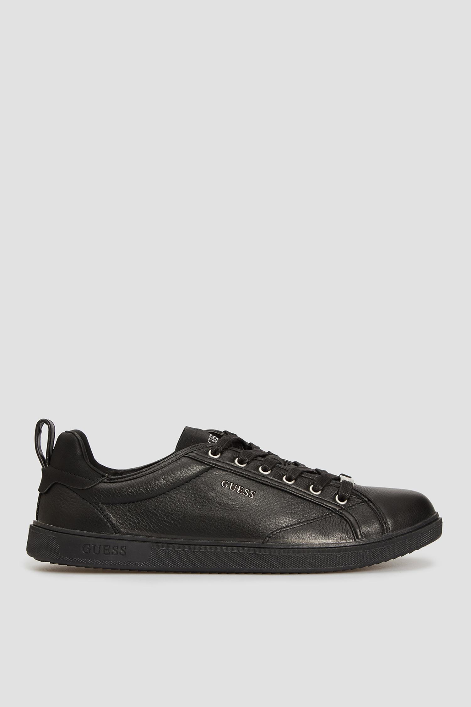 Мужские черные кожаные сникеры Guess FM7LG2.LEA12;BLACK