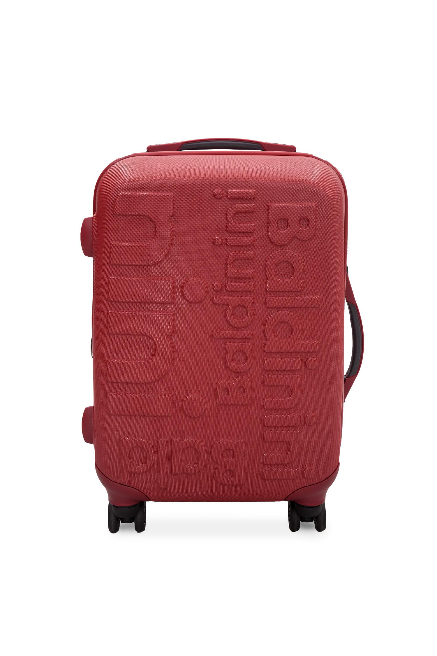 Красный пластиковый чемодан на колесиках Baldinini SK315SM;70