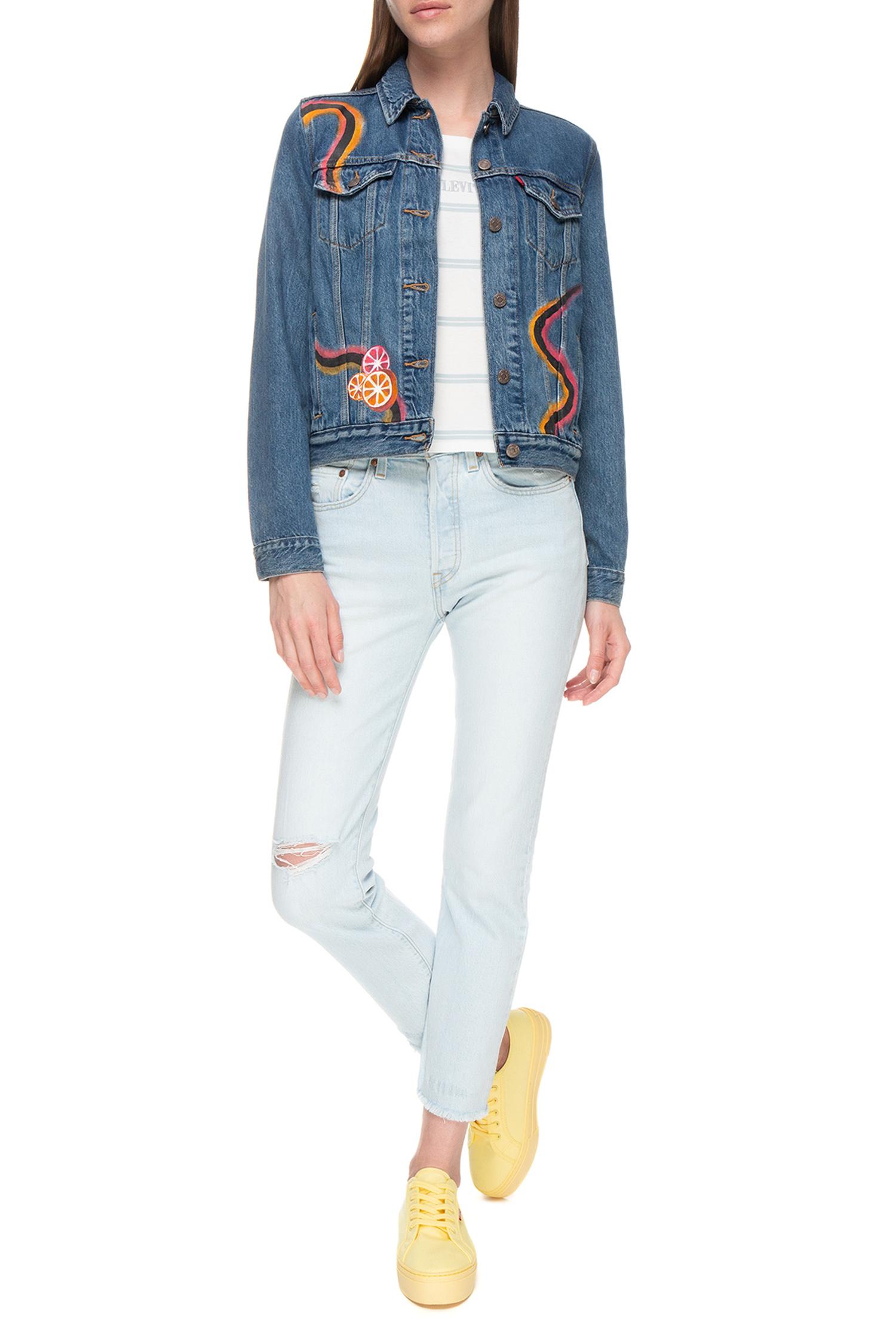 Женская синяя джинсовая куртка Tailored Shop Levi's 29945;0063T(22)