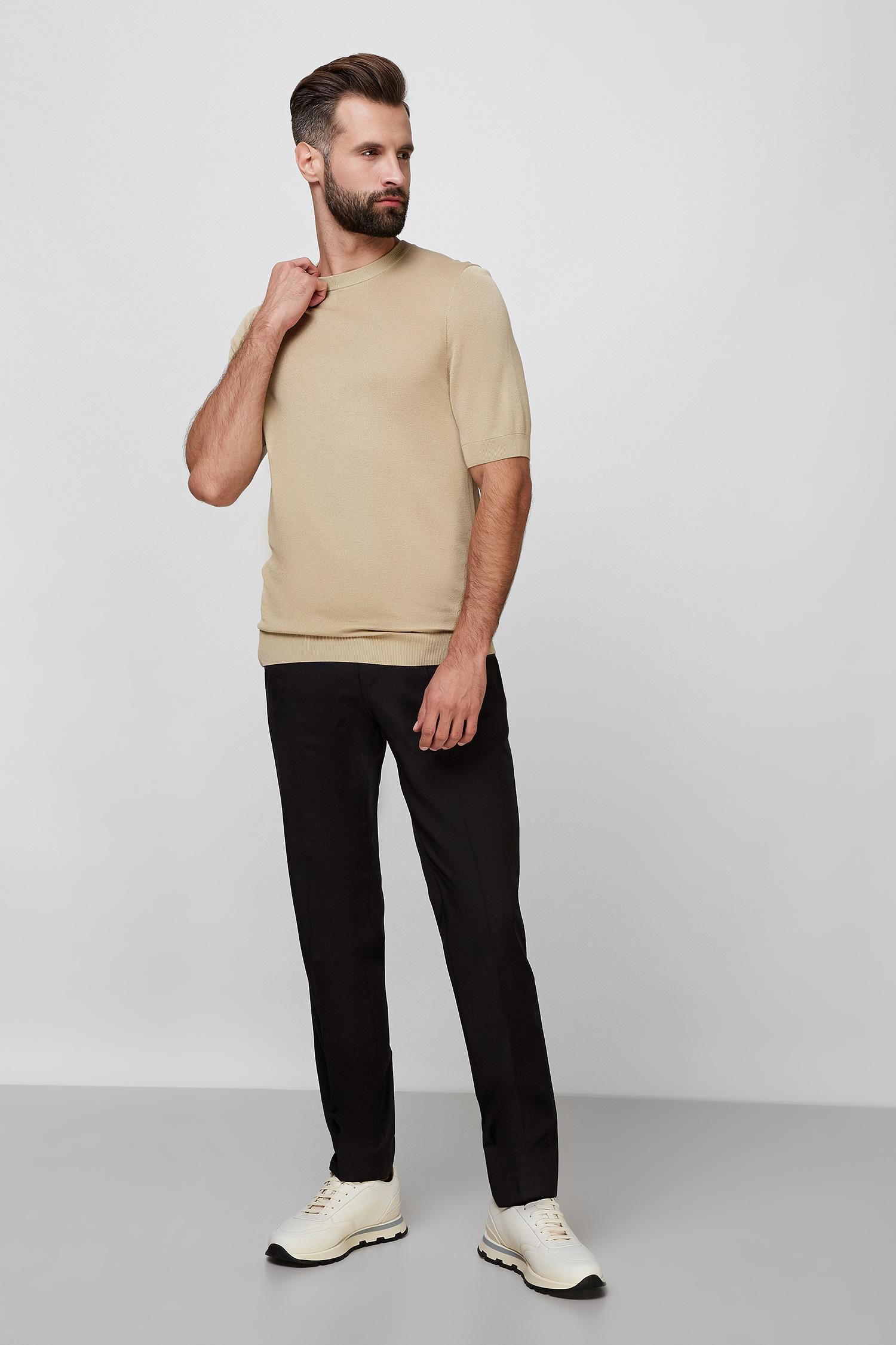 Чоловічі чорні вовняні брюки BOSS 50318499;001