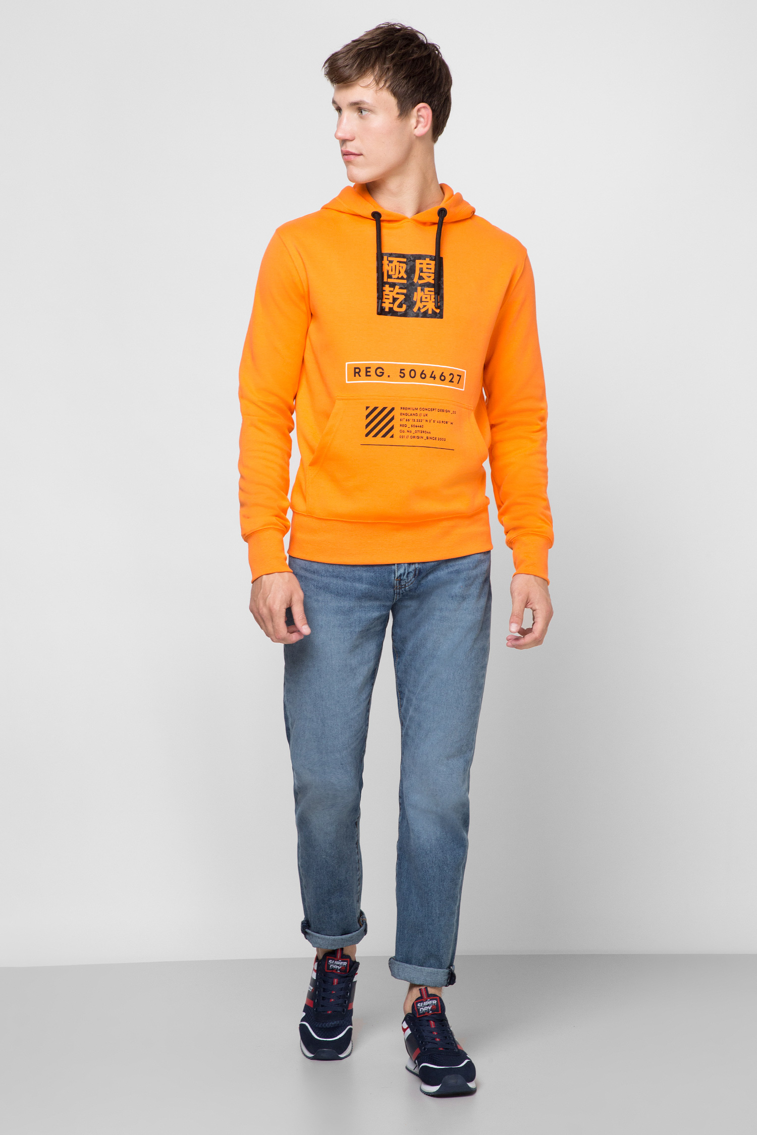 Мужское оранжевое худи SuperDry M2010045A;03M
